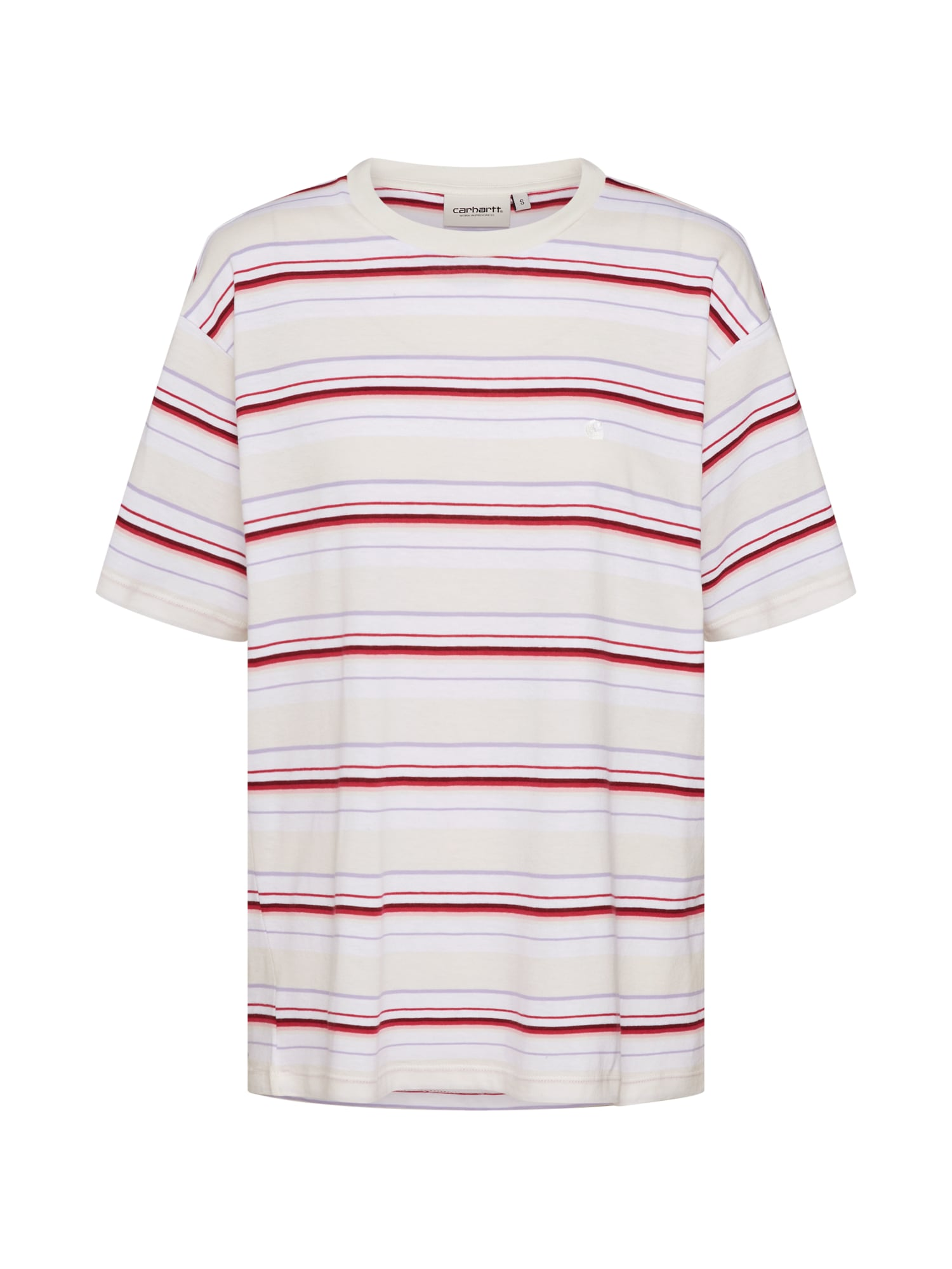 Tričko Riverside lenvandulová pink červená bílá Carhartt WIP