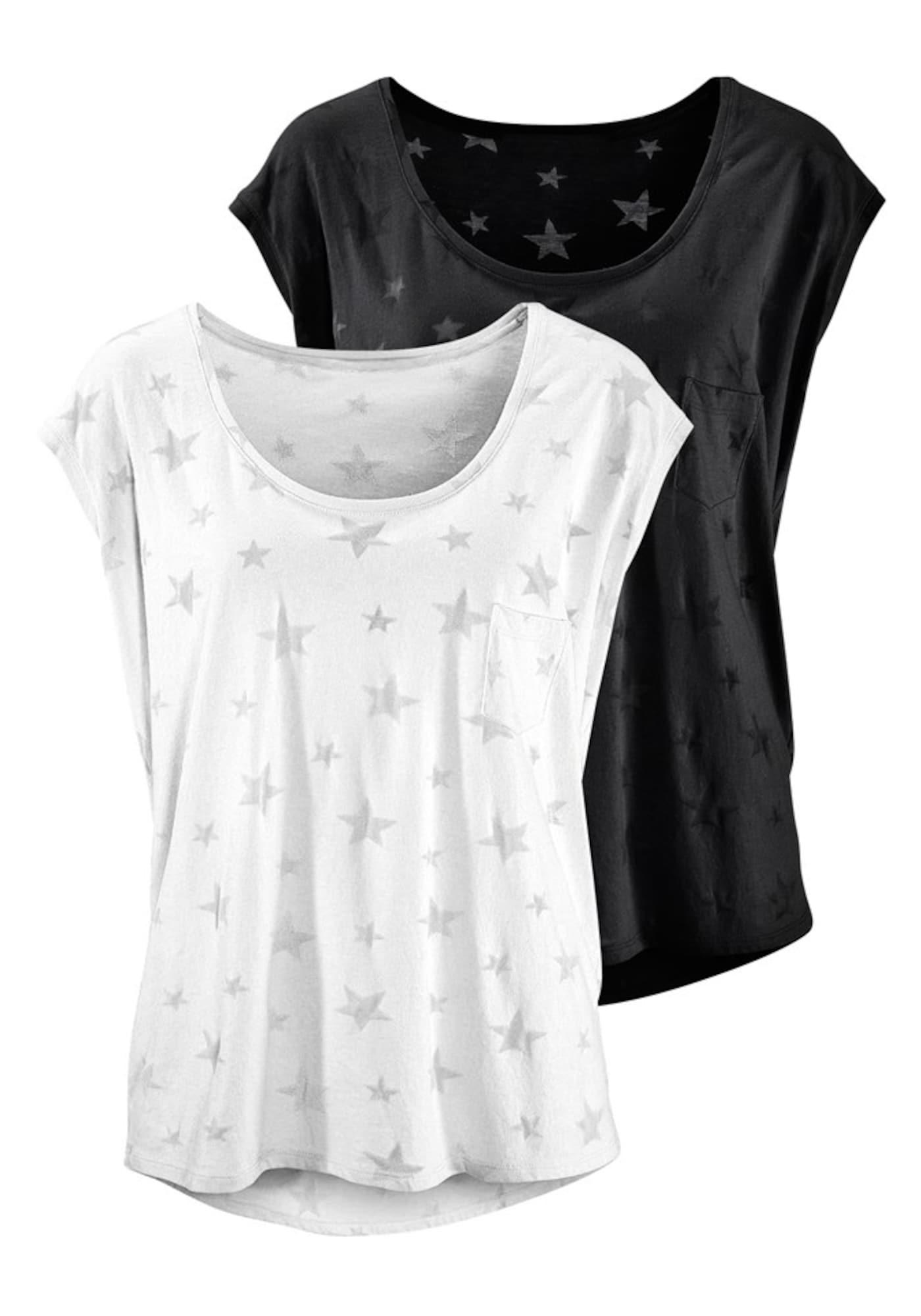 BEACH TIME Marškinėliai sidabro pilka / juoda / balta