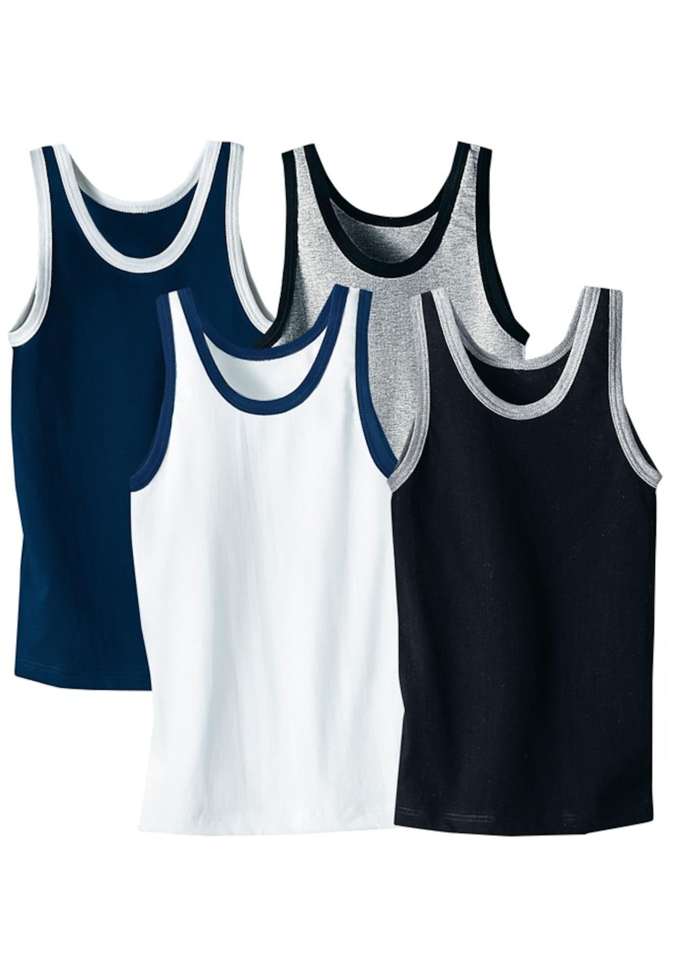 LE JOGGER Apatiniai marškinėliai mėlyna / pilka / juoda / balta