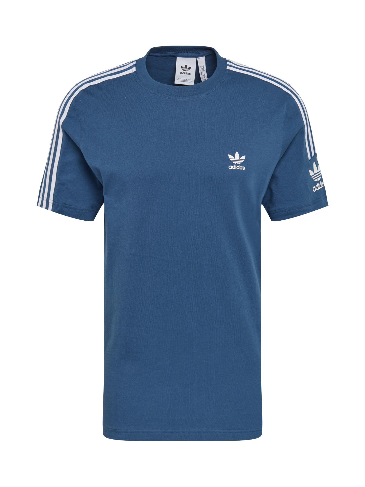 ADIDAS ORIGINALS Marškinėliai balta / mėlyna