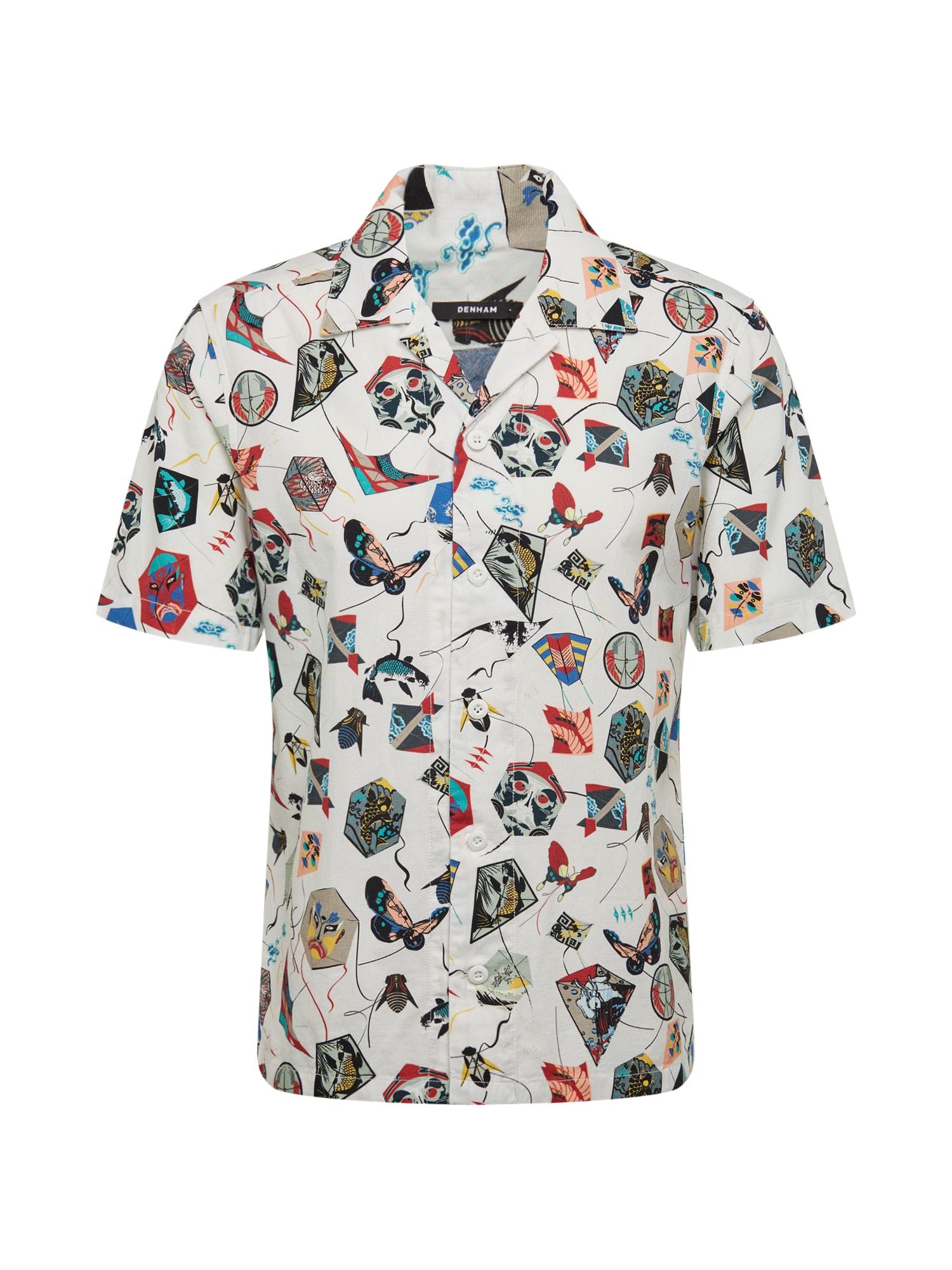 DENHAM Dalykiniai marškiniai 'VIPER' balta / mišrios spalvos
