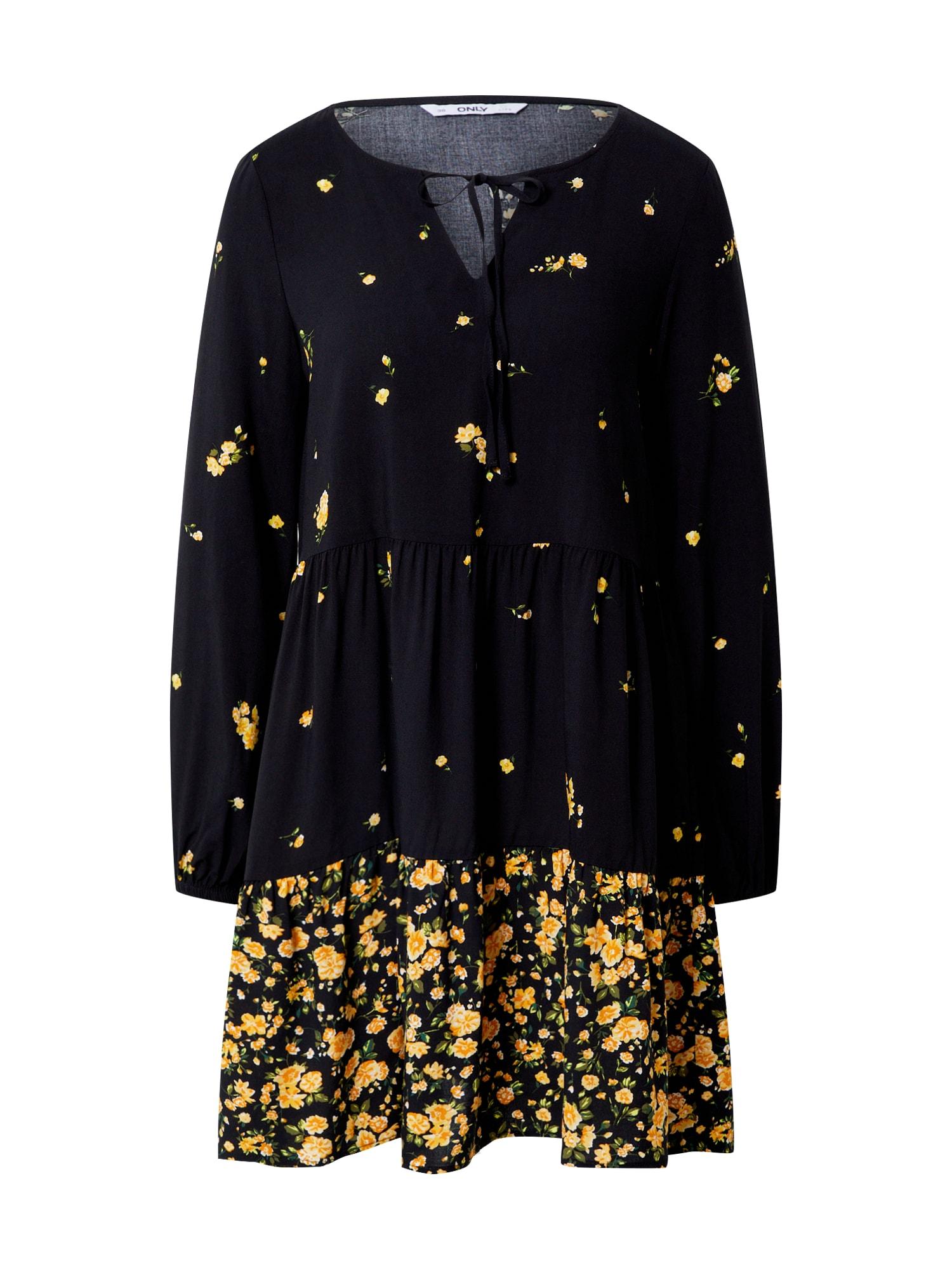 ONLY Košeľové šaty 'ONLALISA LIFE L/S SHORT DRESS WVN'  čierna