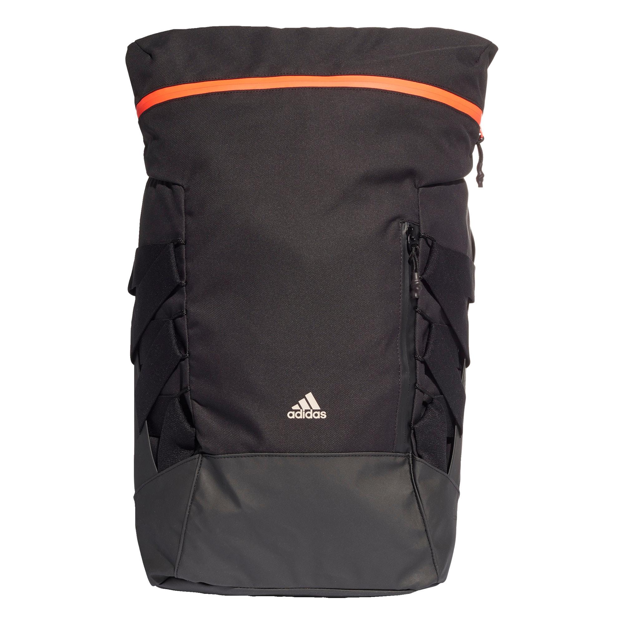 ADIDAS PERFORMANCE Sportinė kuprinė juoda / oranžinė