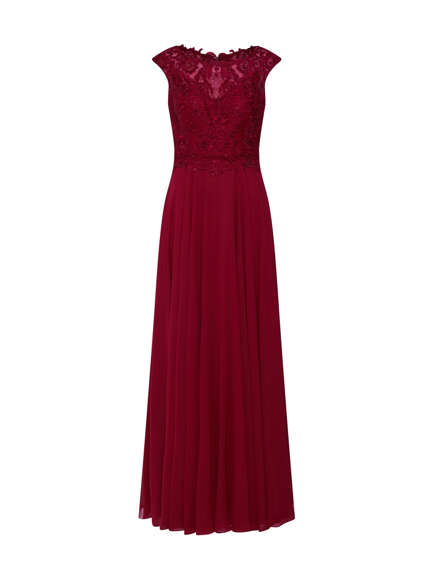 LUXUAR Vakarinė suknelė vyšninė spalva