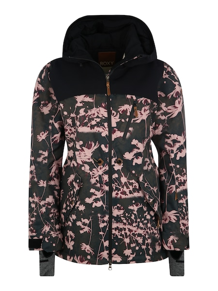 Jacken - Sport Jacke 'STATED' › Roxy › dunkelgrün rosa schwarz  - Onlineshop ABOUT YOU