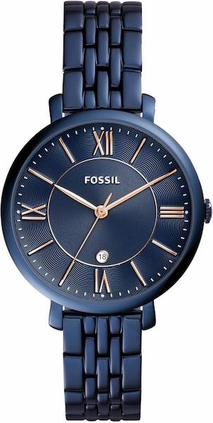 Uhren für Frauen - FOSSIL Quarzuhr 'JACQUELINE' blau  - Onlineshop ABOUT YOU