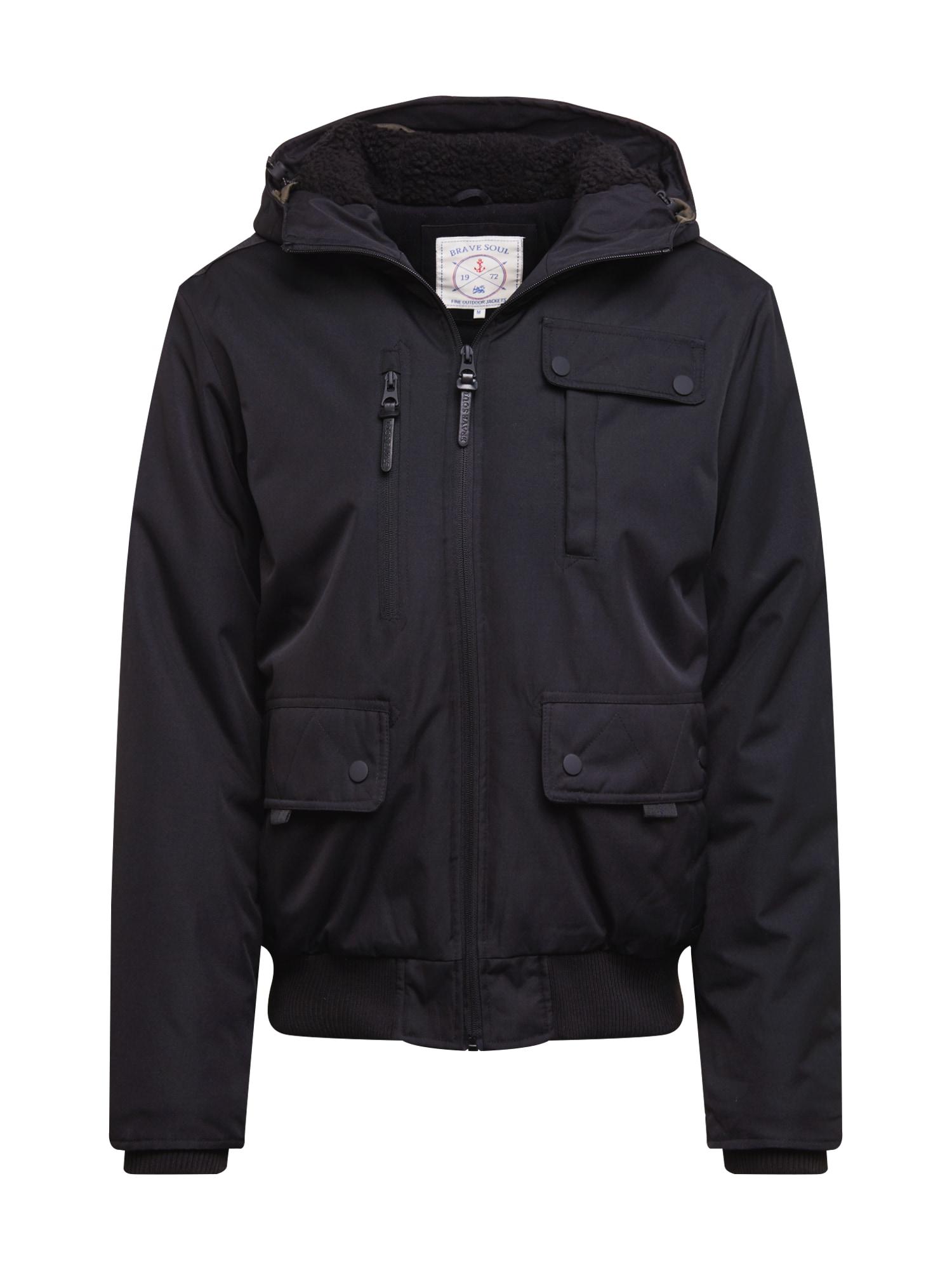 BRAVE SOUL Žieminė striukė 'JK-Tobyi' juoda