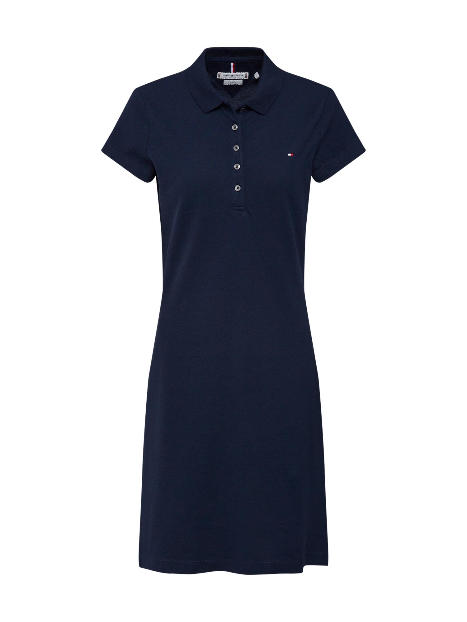 Šaty HERITAGE SLIM POLO DRESS tmavě modrá TOMMY HILFIGER