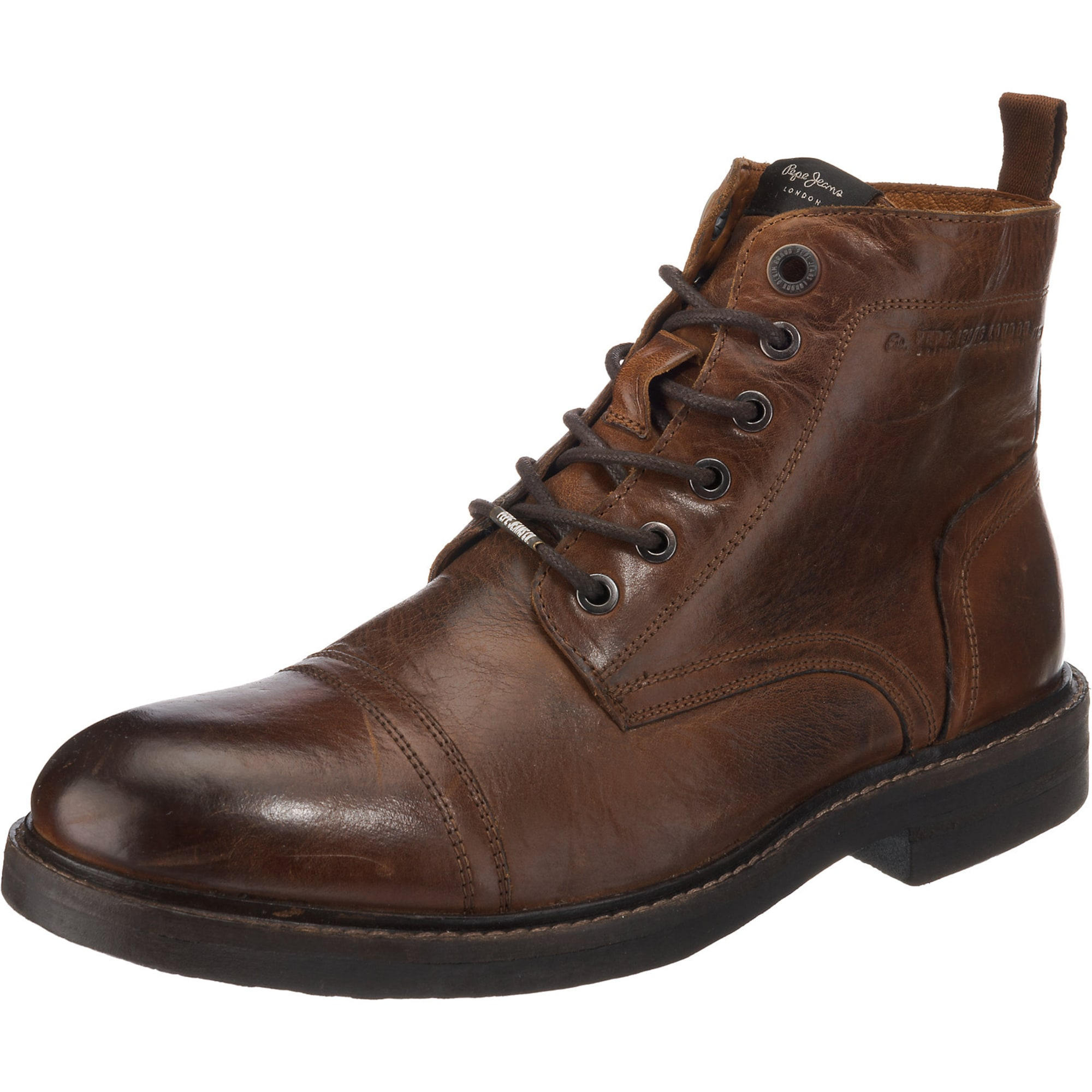 Šněrovací boty HUBERT hnědá Pepe Jeans