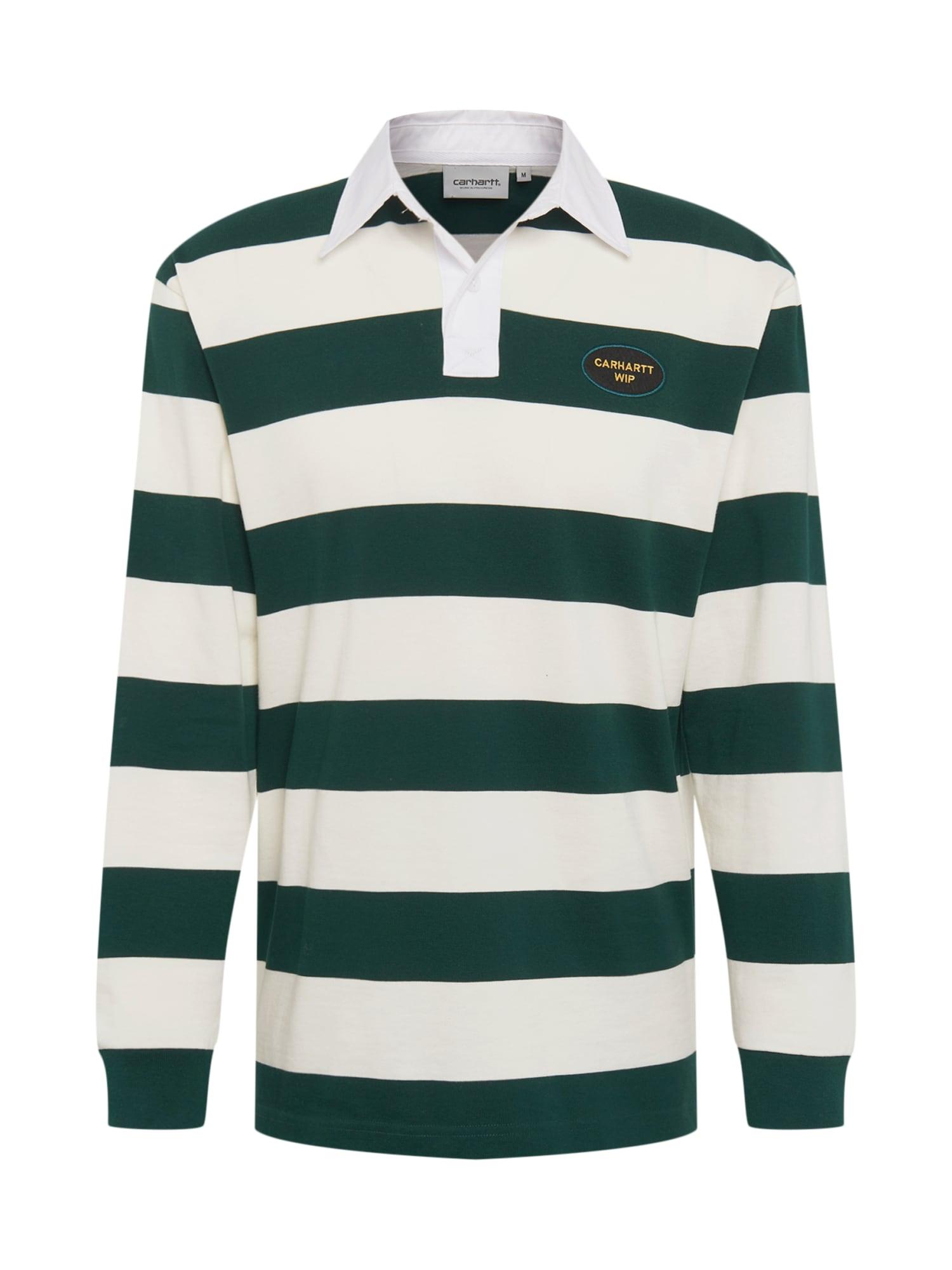 Tričko LS Roslyn tmavě zelená bílá Carhartt WIP