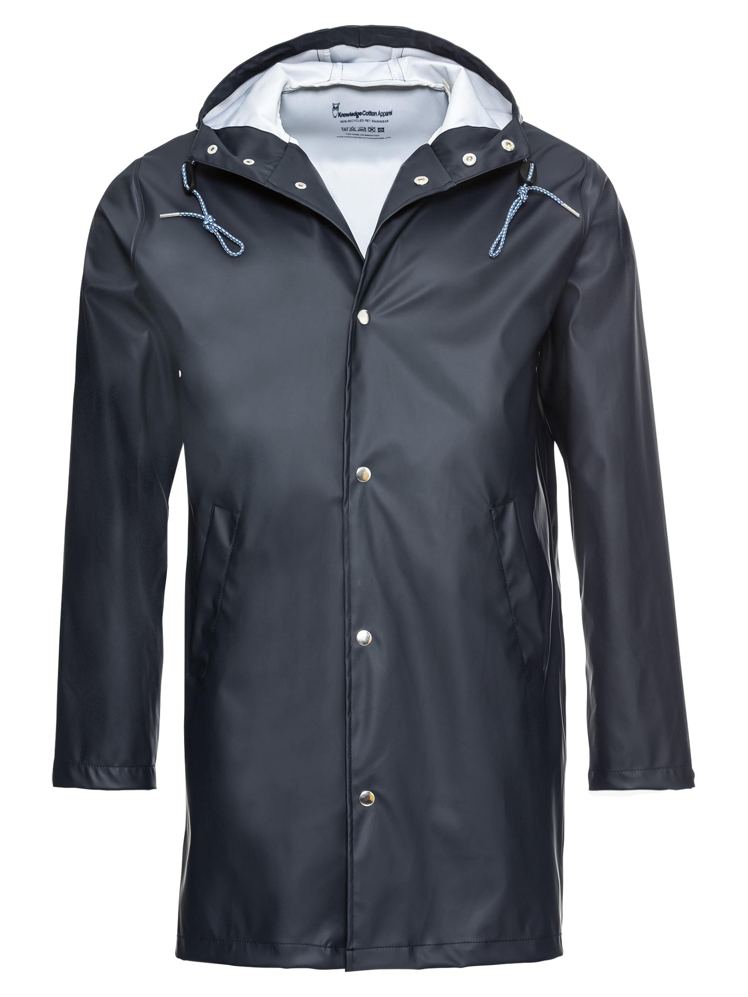 Přechodný kabát Long Rain Jacket modrá KnowledgeCotton Apparel