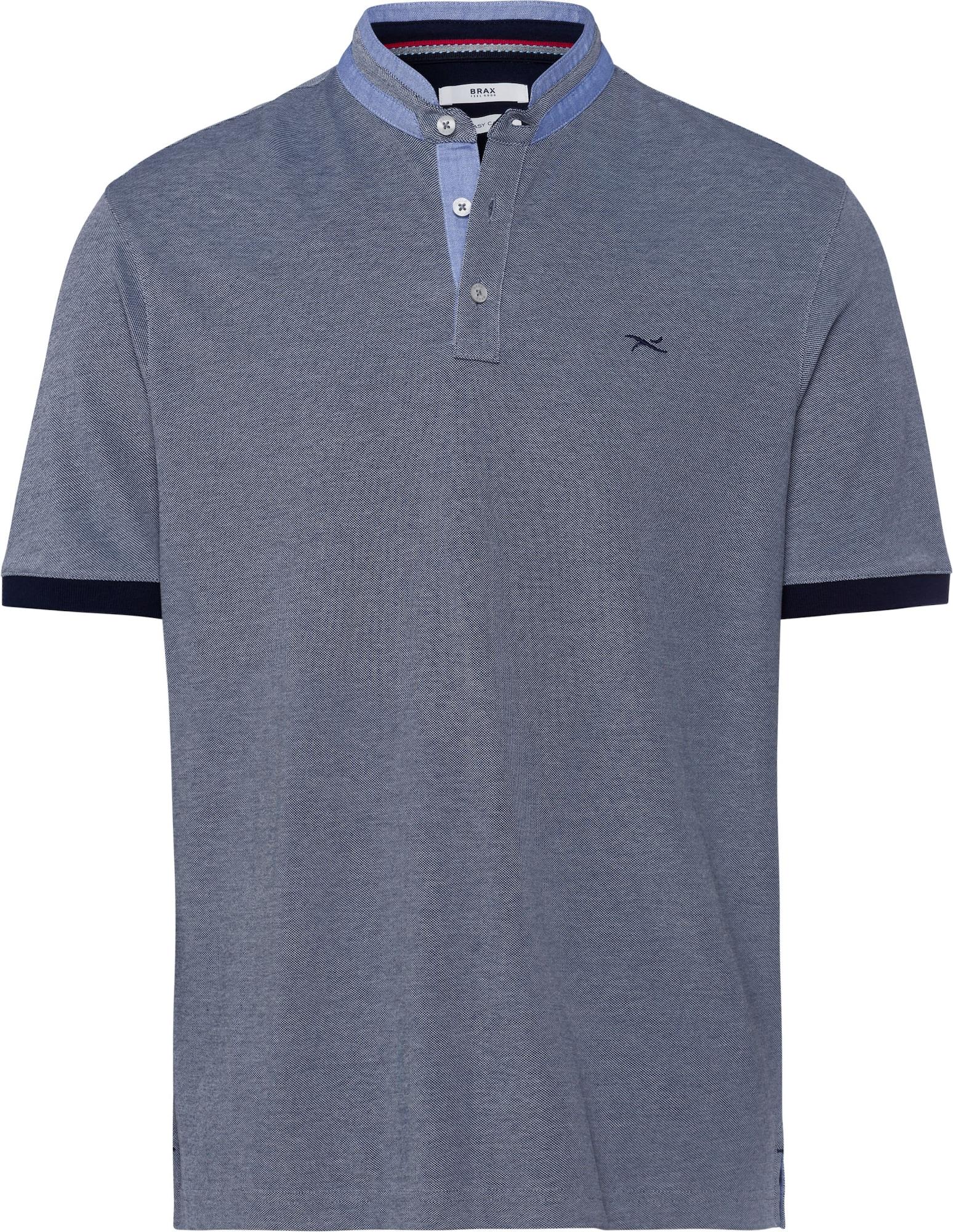 BRAX Marškinėliai 'Pollux' šviesiai mėlyna / margai pilka / tamsiai mėlyna