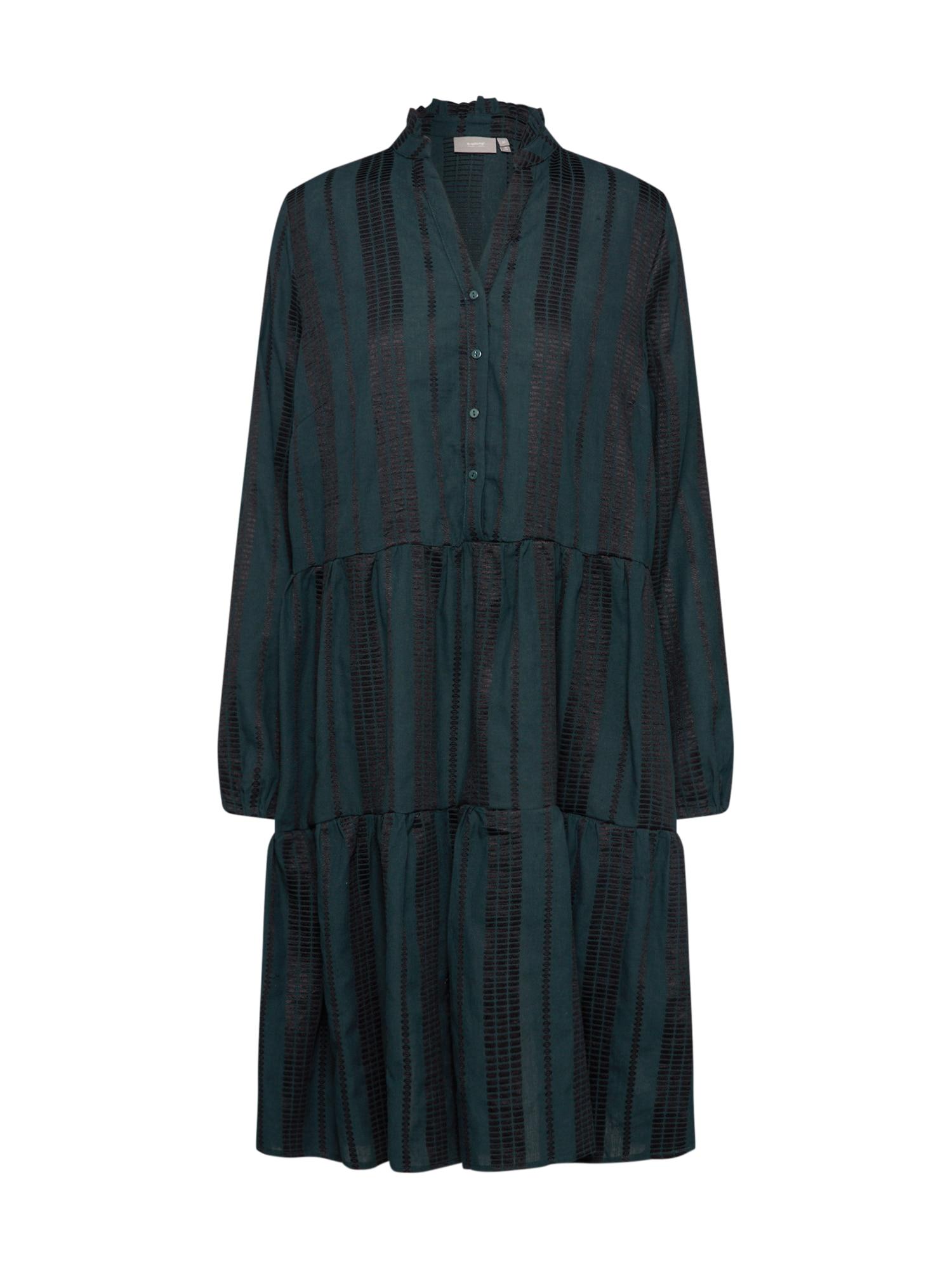 b.young Palaidinės tipo suknelė 'BXILISE DRESS' tamsiai žalia / juoda