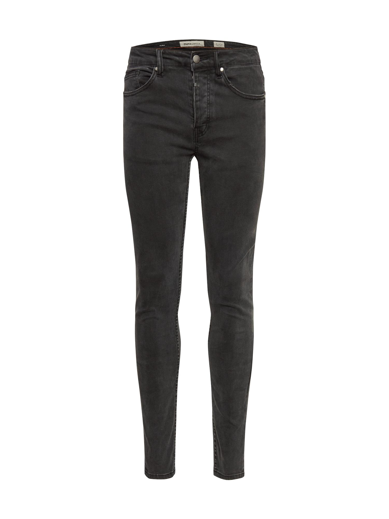tigha Džinsai juodo džinso spalva