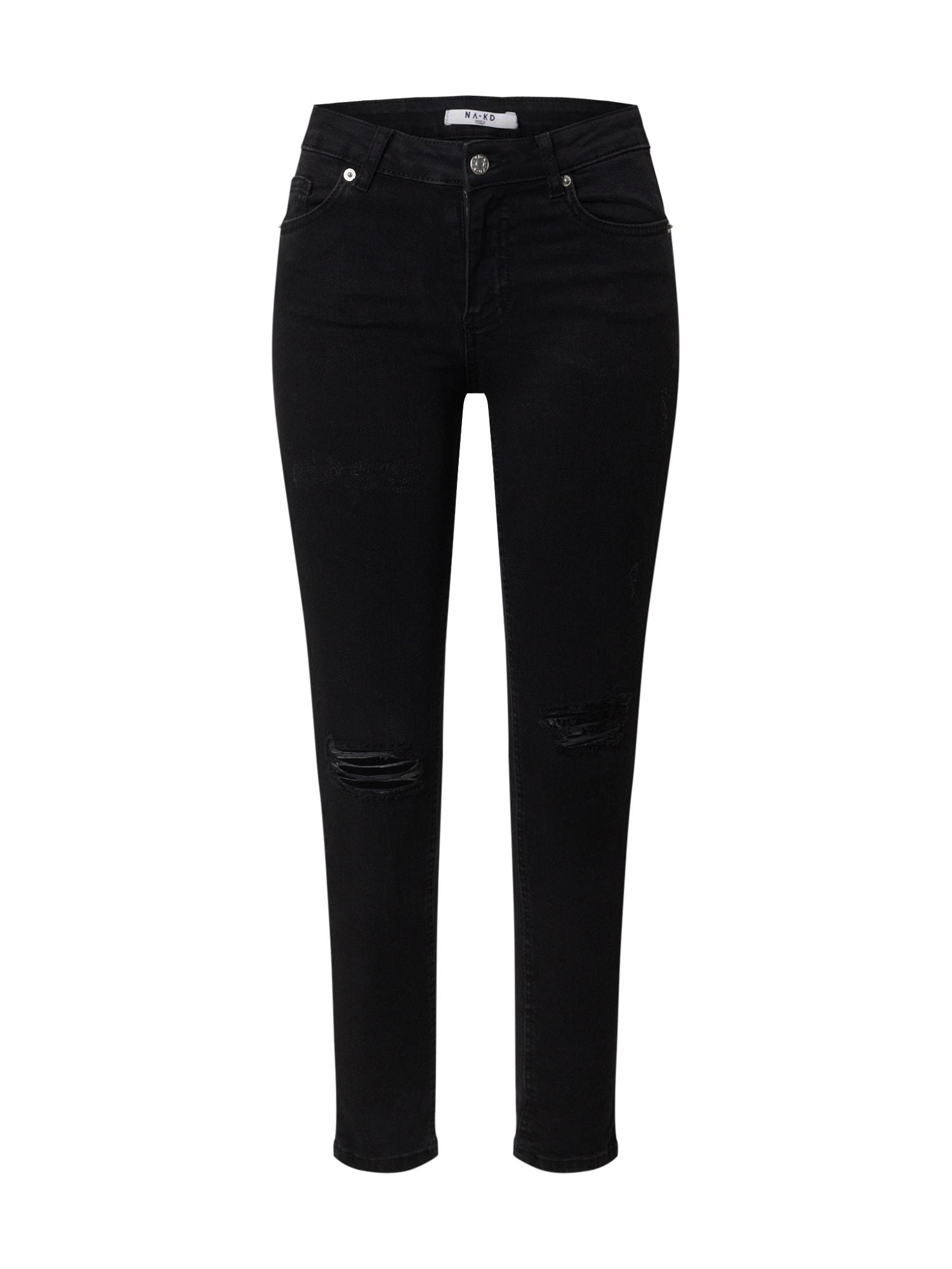 NA-KD Džinsai juodo džinso spalva
