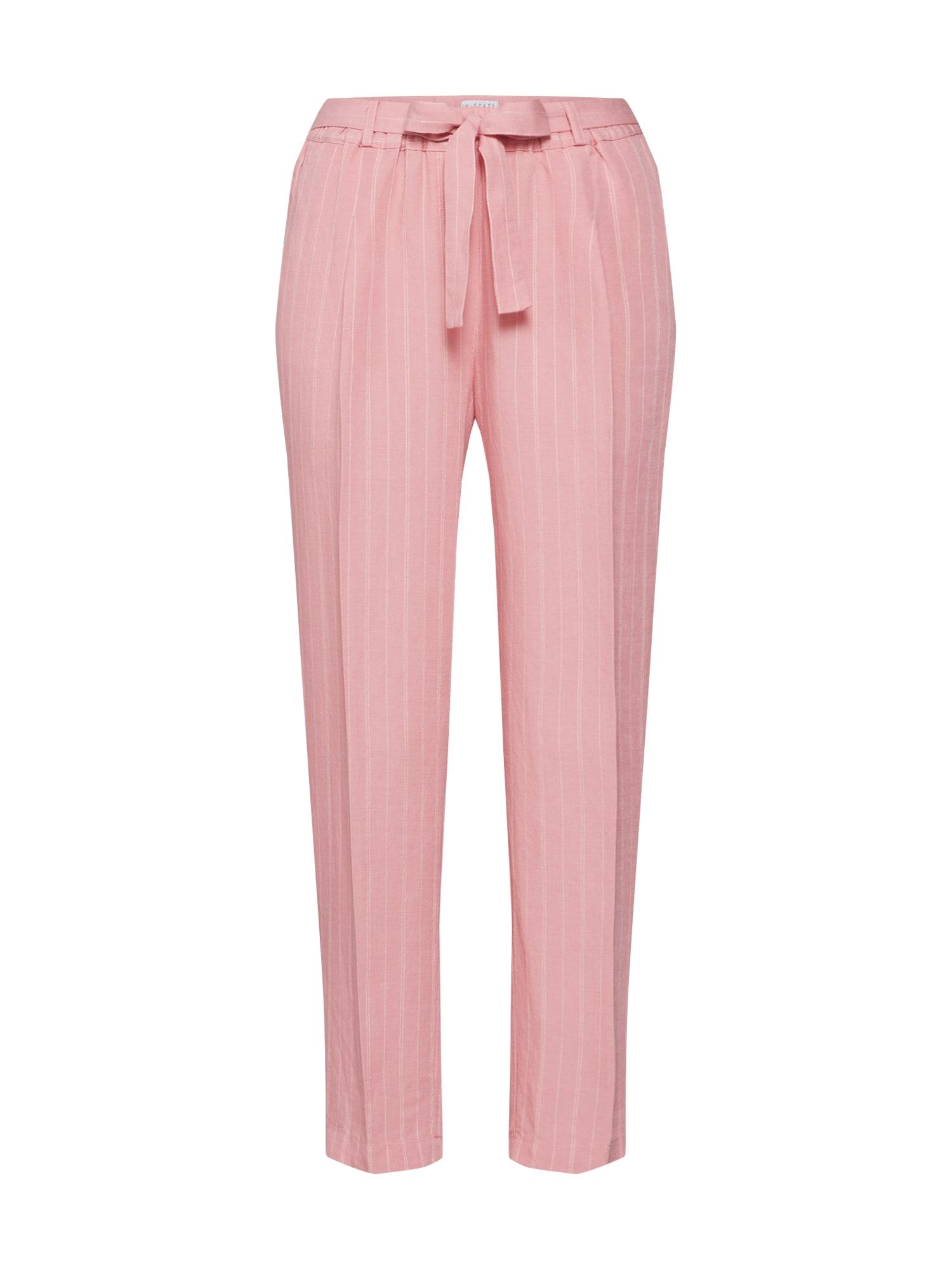 Kalhoty Striped Pants with Pleat růžová bílá Re.draft