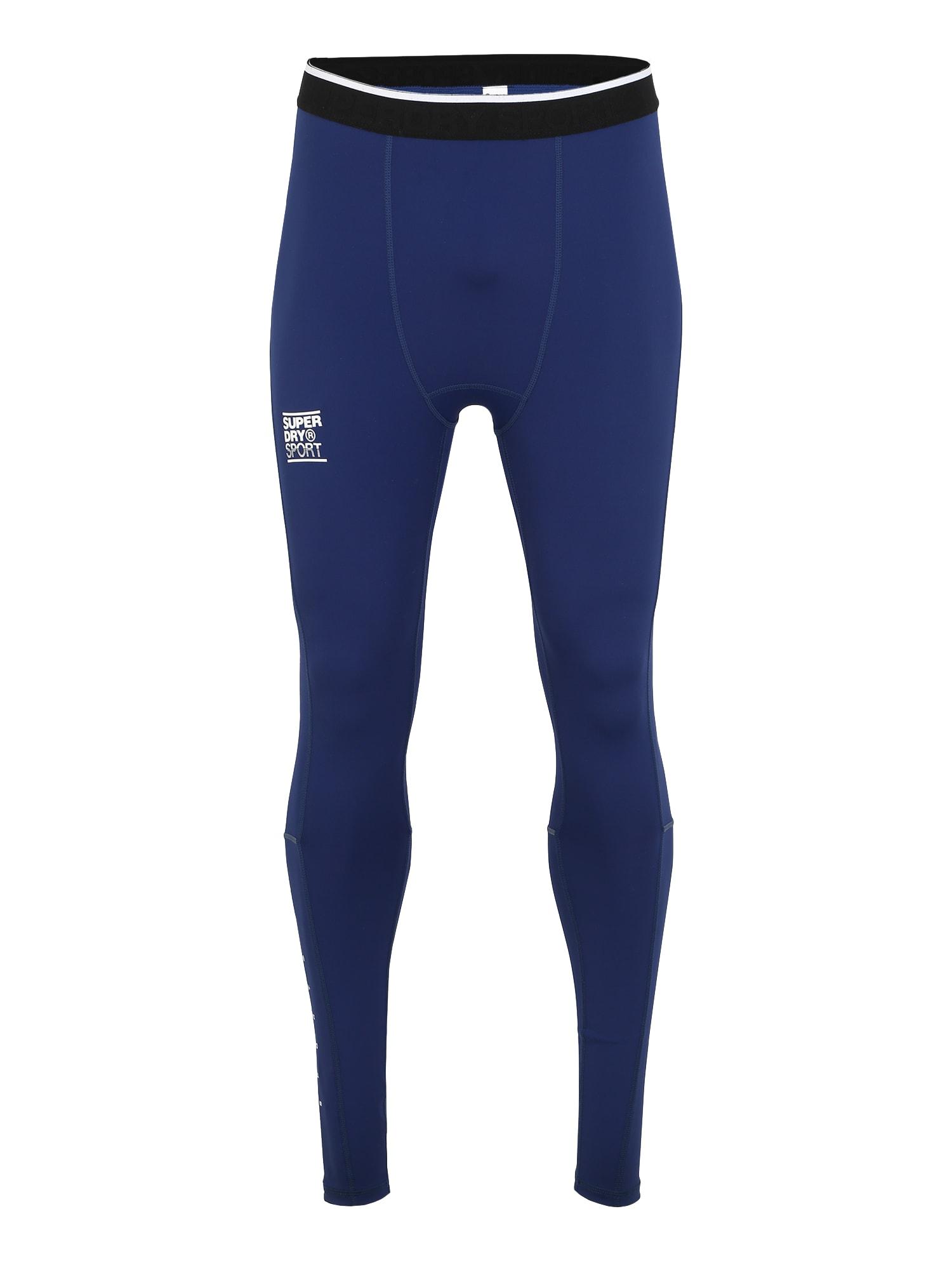 Superdry Sportinės kelnės tamsiai mėlyna / vandens spalva