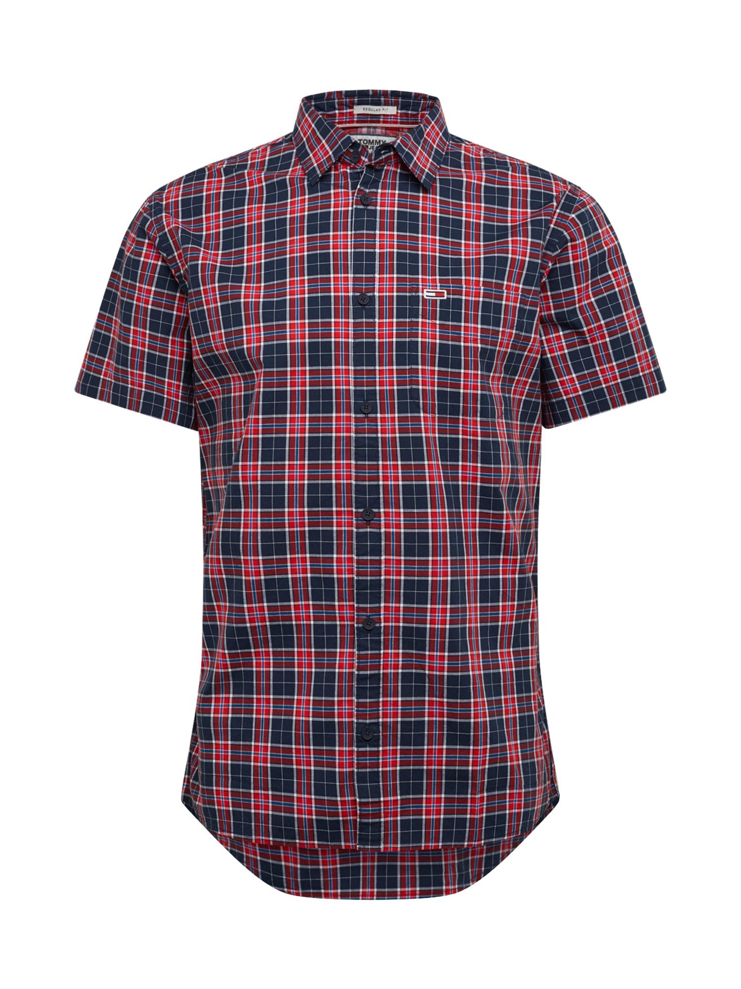 Tommy Jeans Dalykiniai marškiniai mišrios spalvos / tamsiai mėlyna