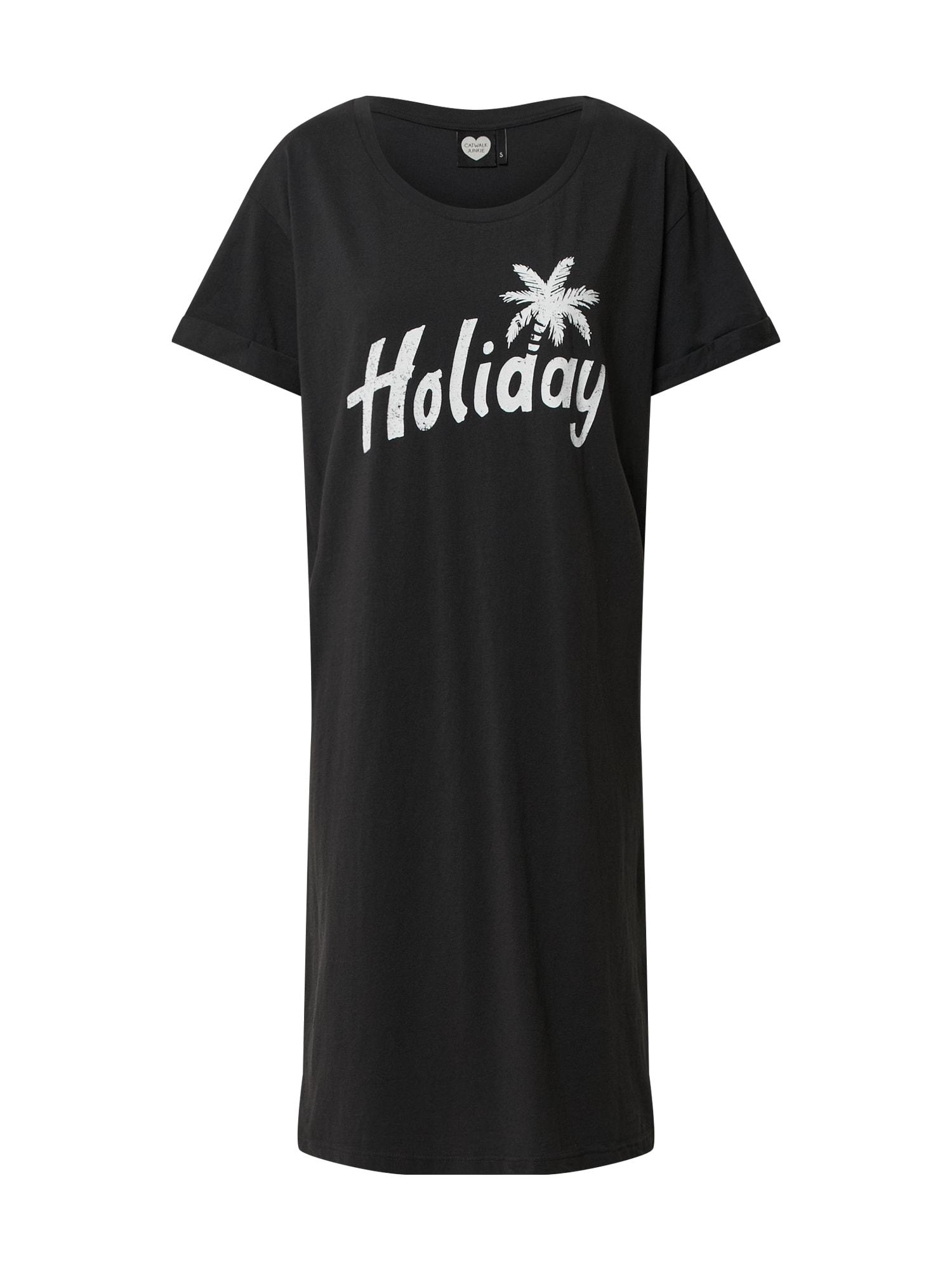 CATWALK JUNKIE Vasarinė suknelė 'Dr Summer Holiday' tamsiai pilka