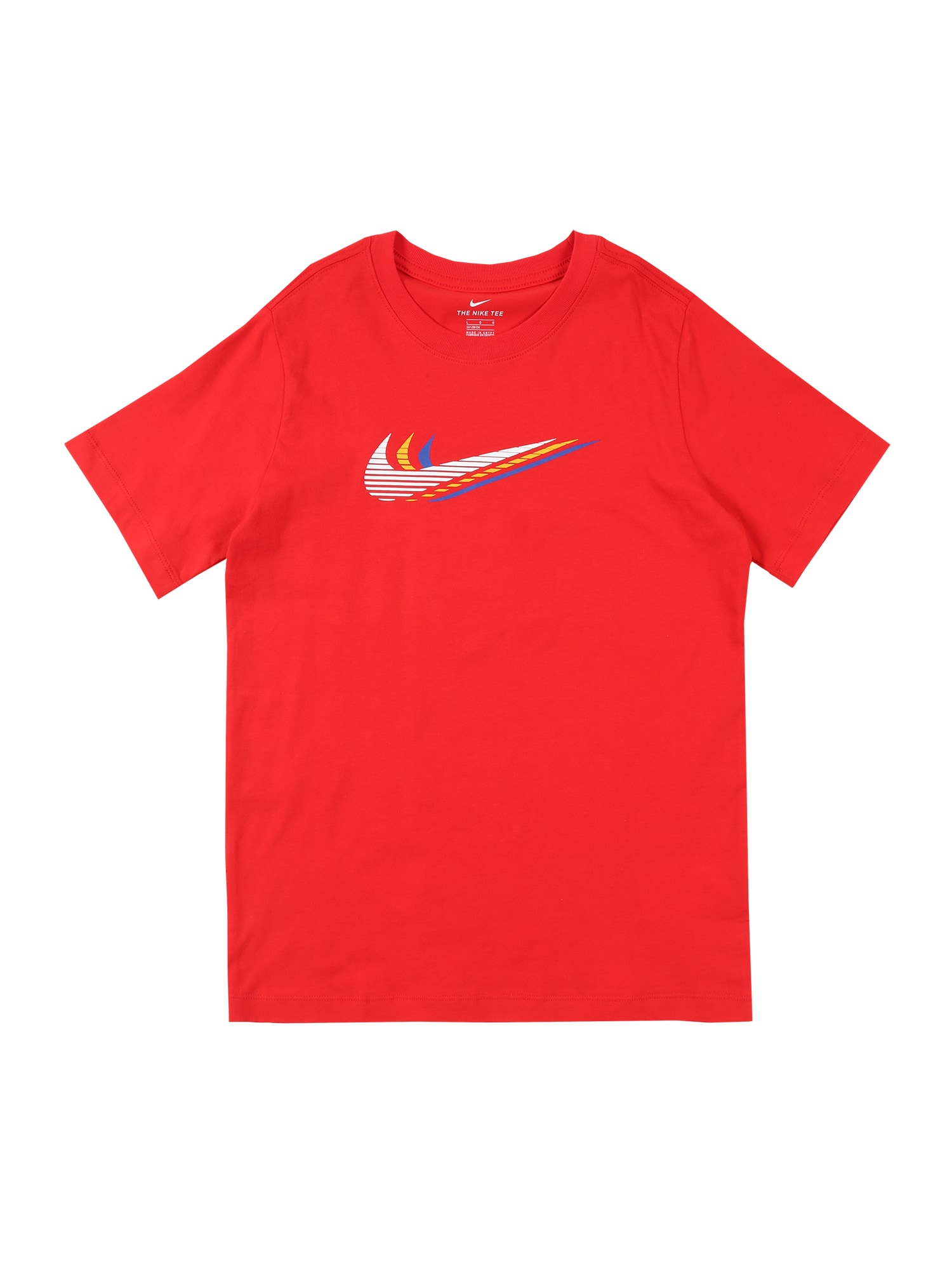 Nike Sportswear Tričko 'Triple Swoosh'  červené