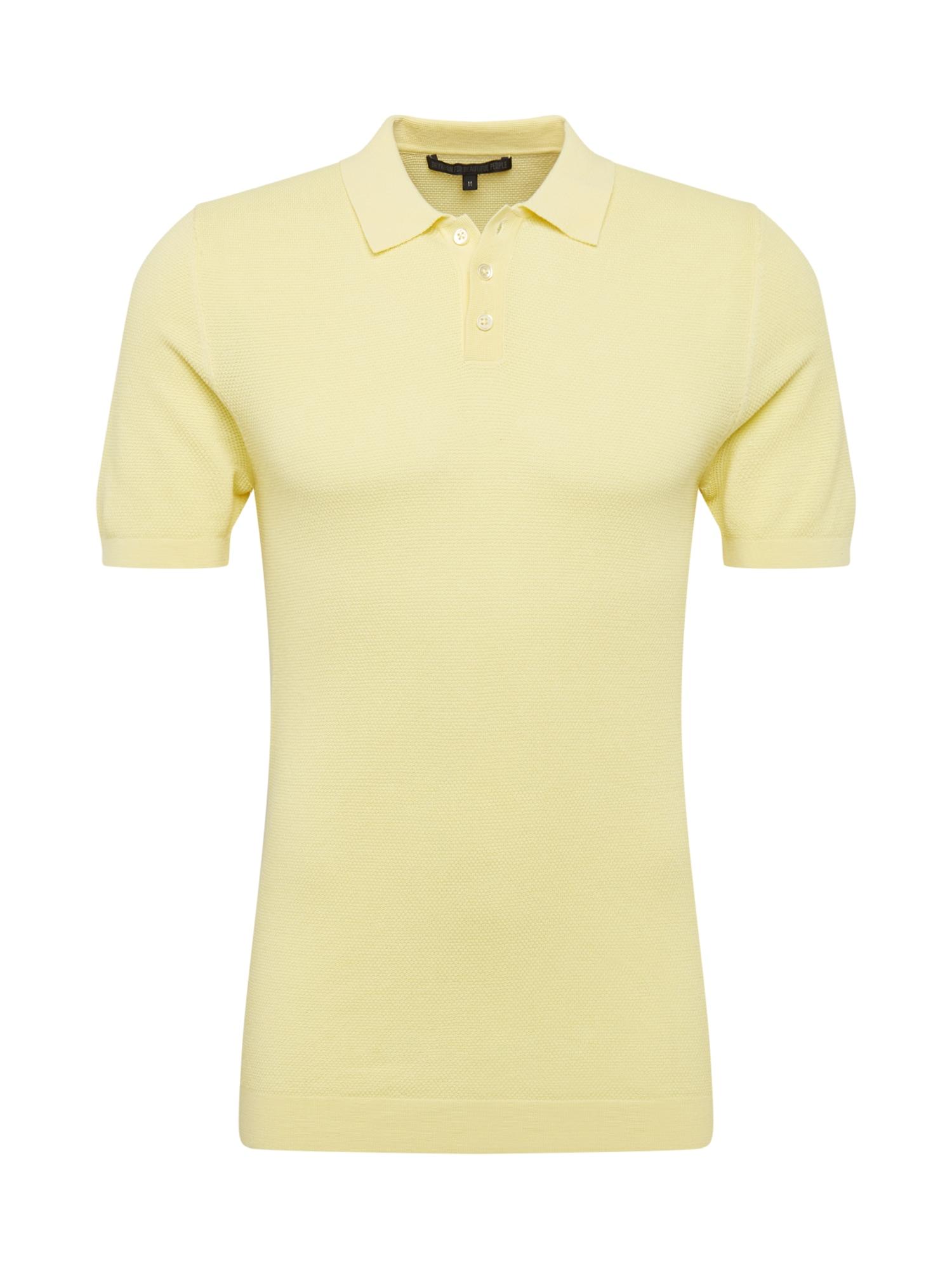 DRYKORN Megztinis 'TRITON' pastelinė geltona