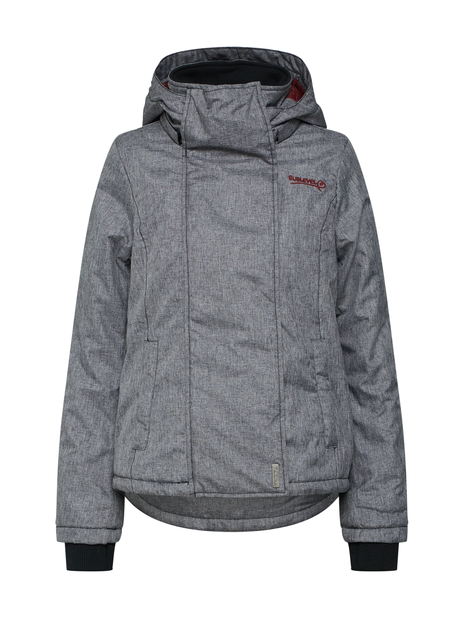 Zimní bunda šedá antracitová Sublevel
