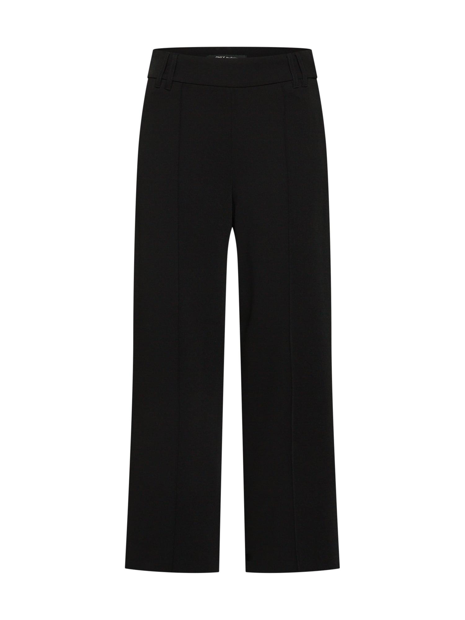 Kalhoty onlWINNI HW WIDE CROPPED PNT černá ONLY