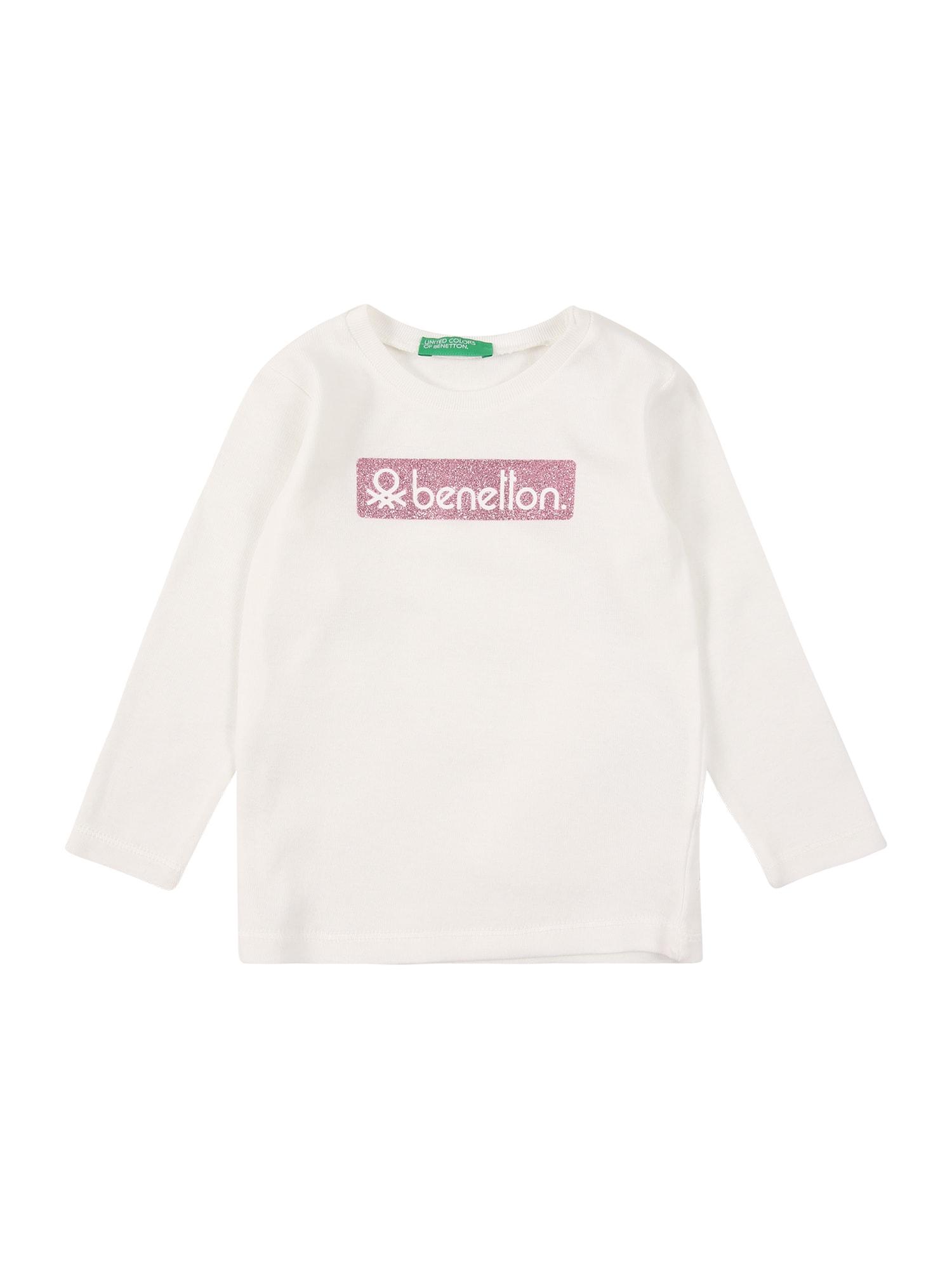 UNITED COLORS OF BENETTON Tričko  bílá / pink