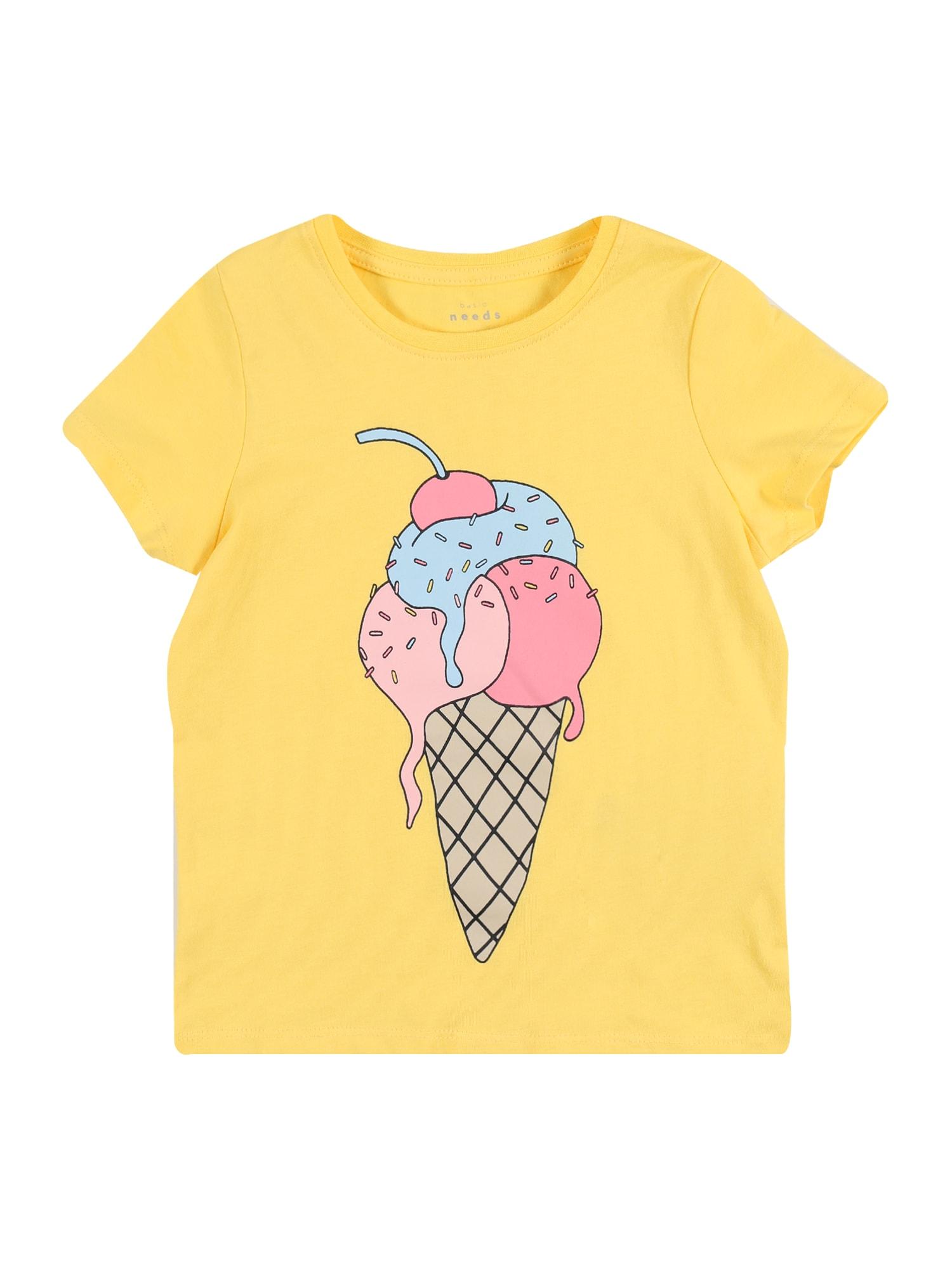 NAME IT Marškinėliai 'NMFVEEN' geltona