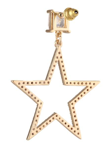 Ohrringe für Frauen - Orelia Ohrstecker 'Crystal Open Star Drop' gold  - Onlineshop ABOUT YOU