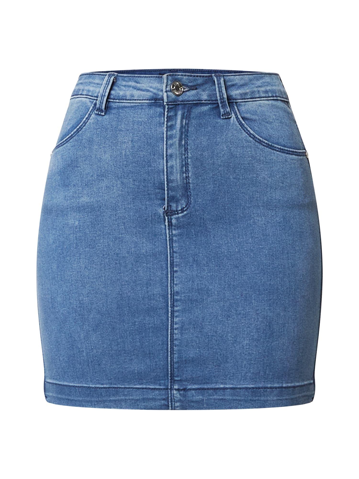 Missguided Sijonas tamsiai (džinso) mėlyna