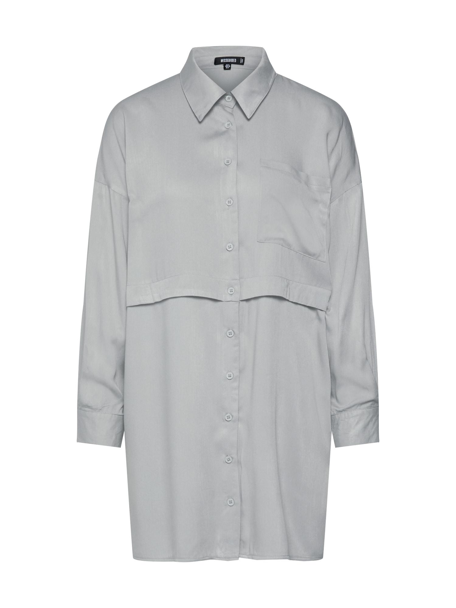 Missguided Palaidinė 'UTILITY SHIRT DRESS' rusvai žalia