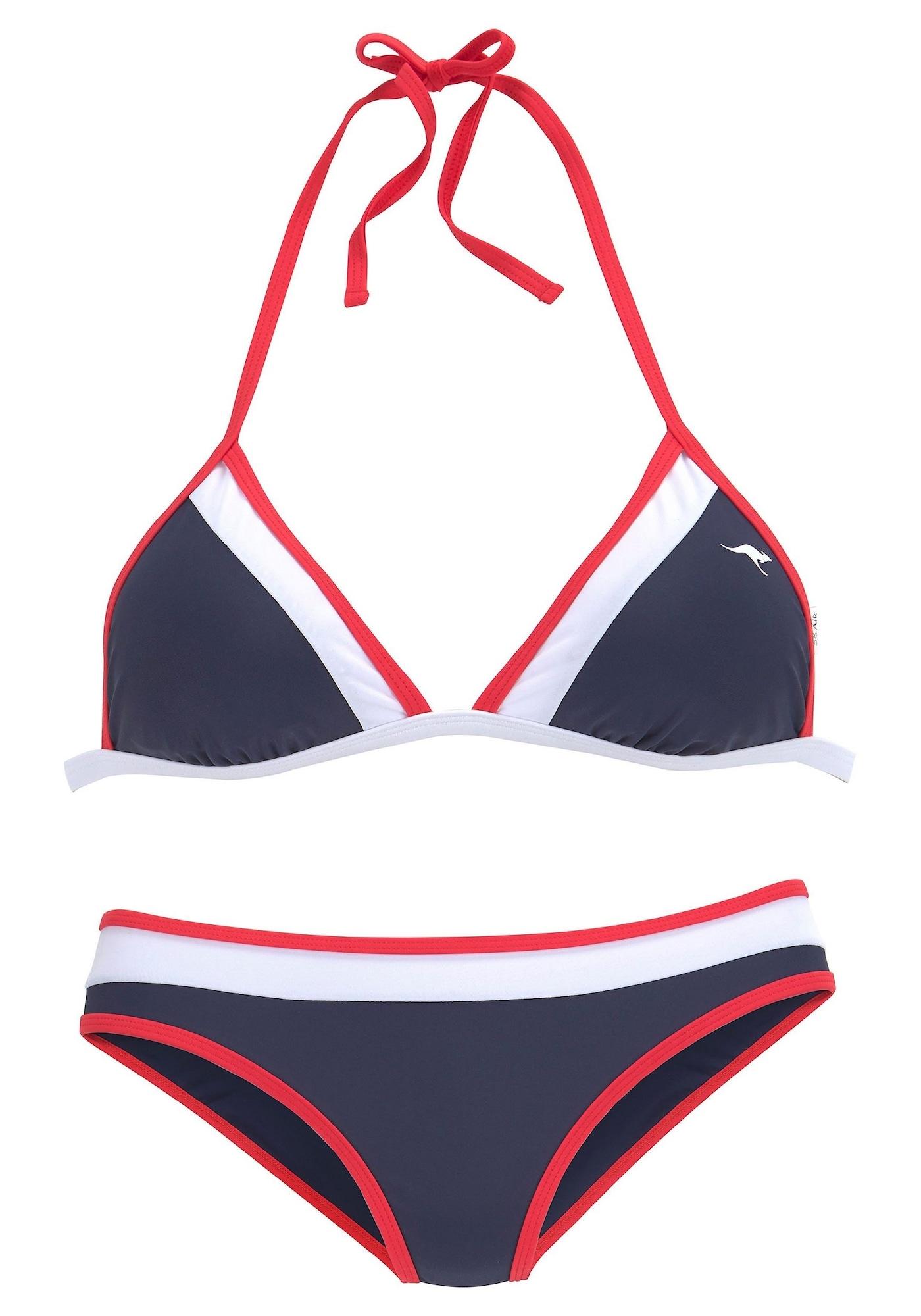 KangaROOS Bikinis tamsiai mėlyna / balta / raudona
