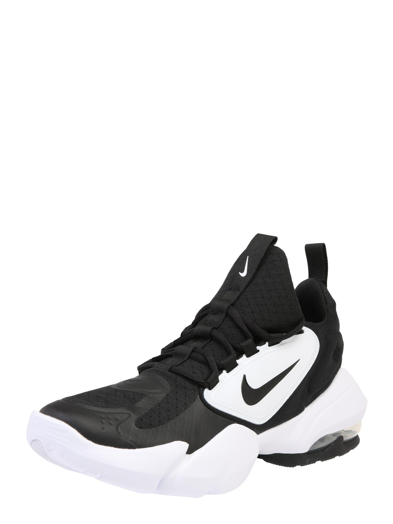 NIKE Sportiniai batai 'Air Max Alpha Savage' juoda / balta