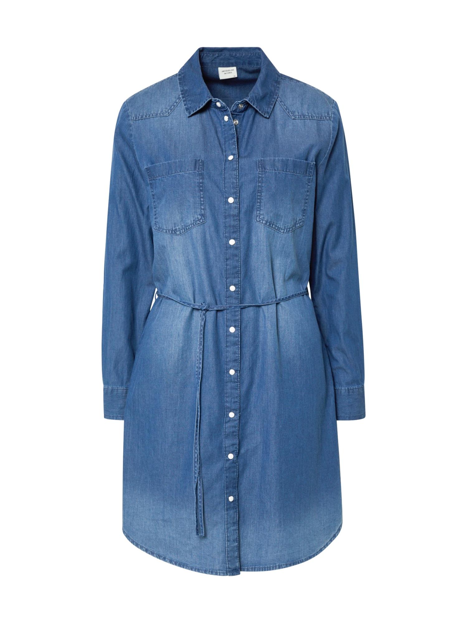 JACQUELINE de YONG Palaidinės tipo suknelė 'JDYBILL' tamsiai (džinso) mėlyna