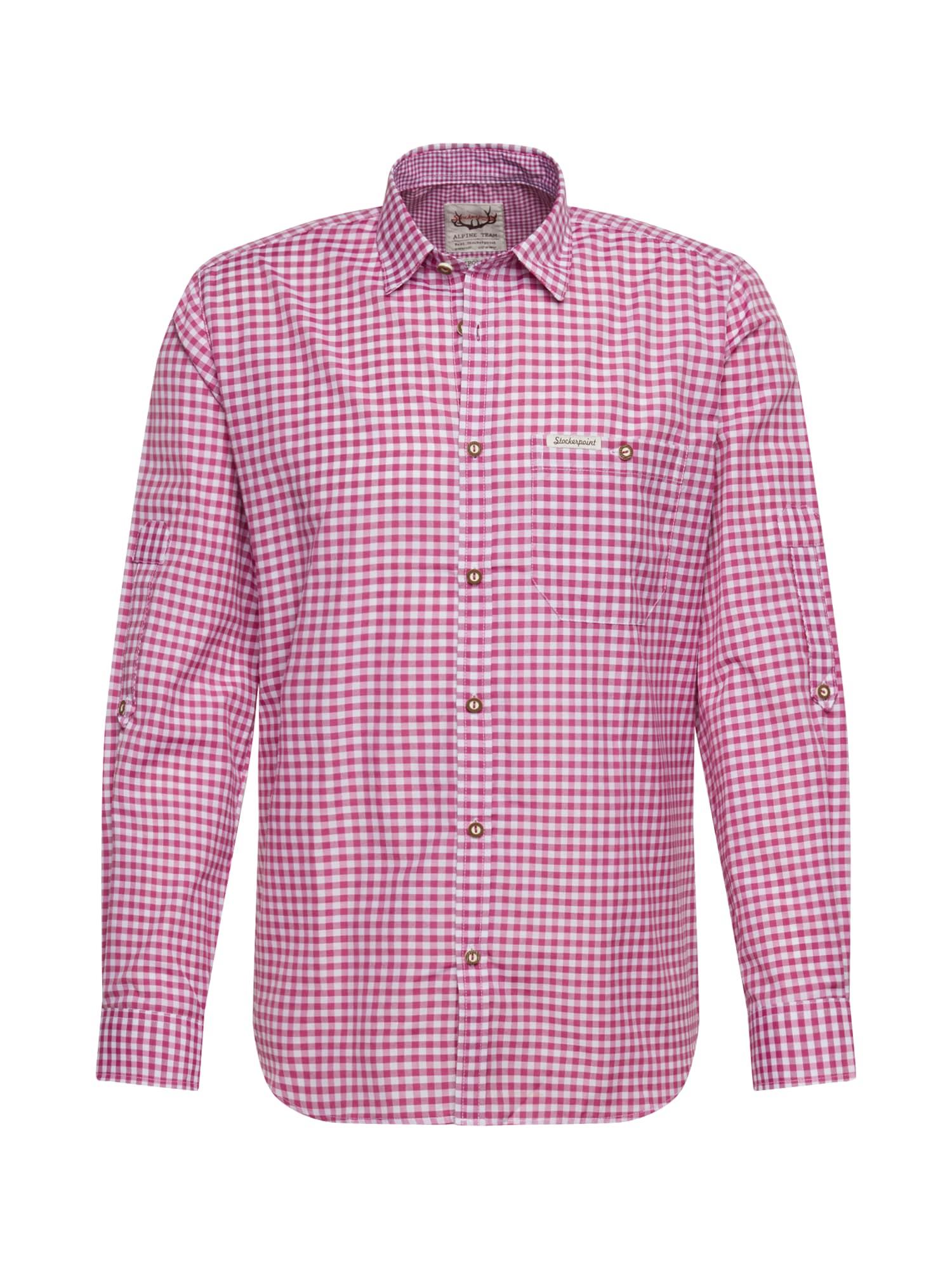 STOCKERPOINT Neliemenuoti marškiniai 'Campos' balta / uogų spalva