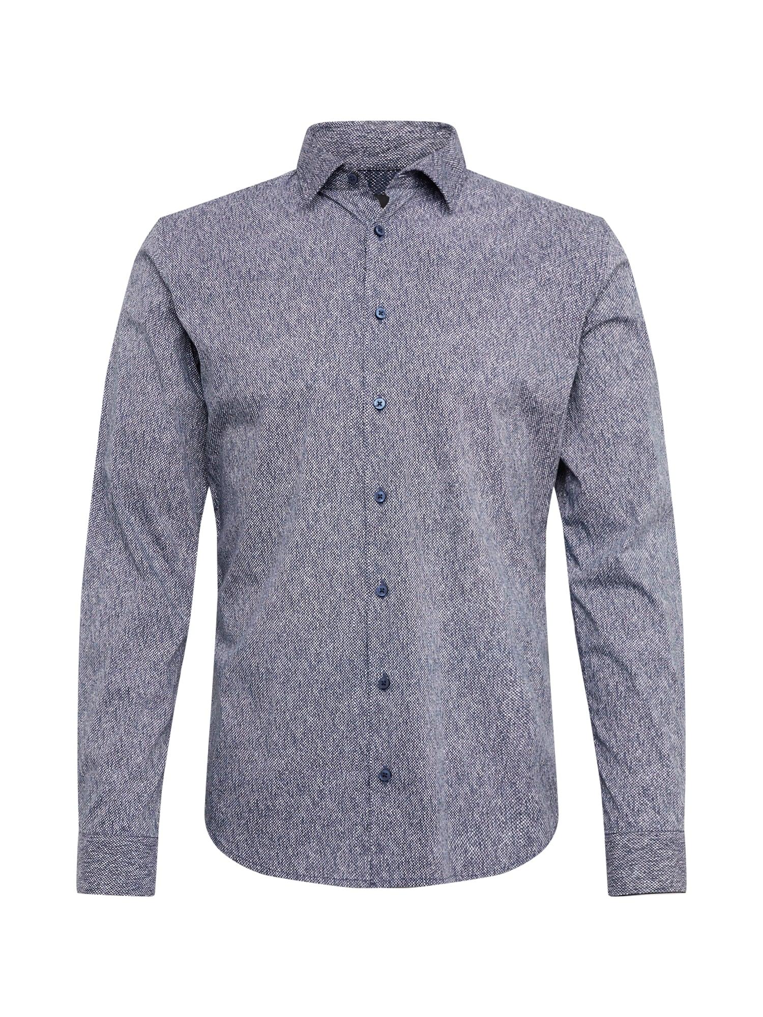 BOSS Dalykiniai marškiniai 'Mypop_2' mėlyna