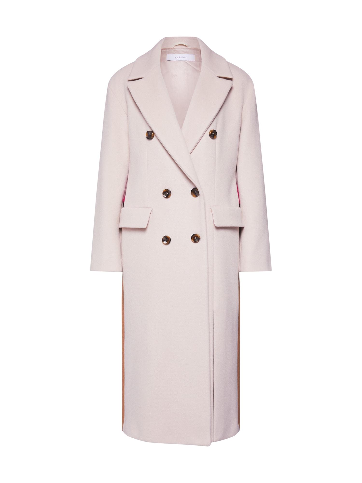 iBlues Prechodný kabát 'TADDEO'  krémová / farba ťavej srsti / ružová