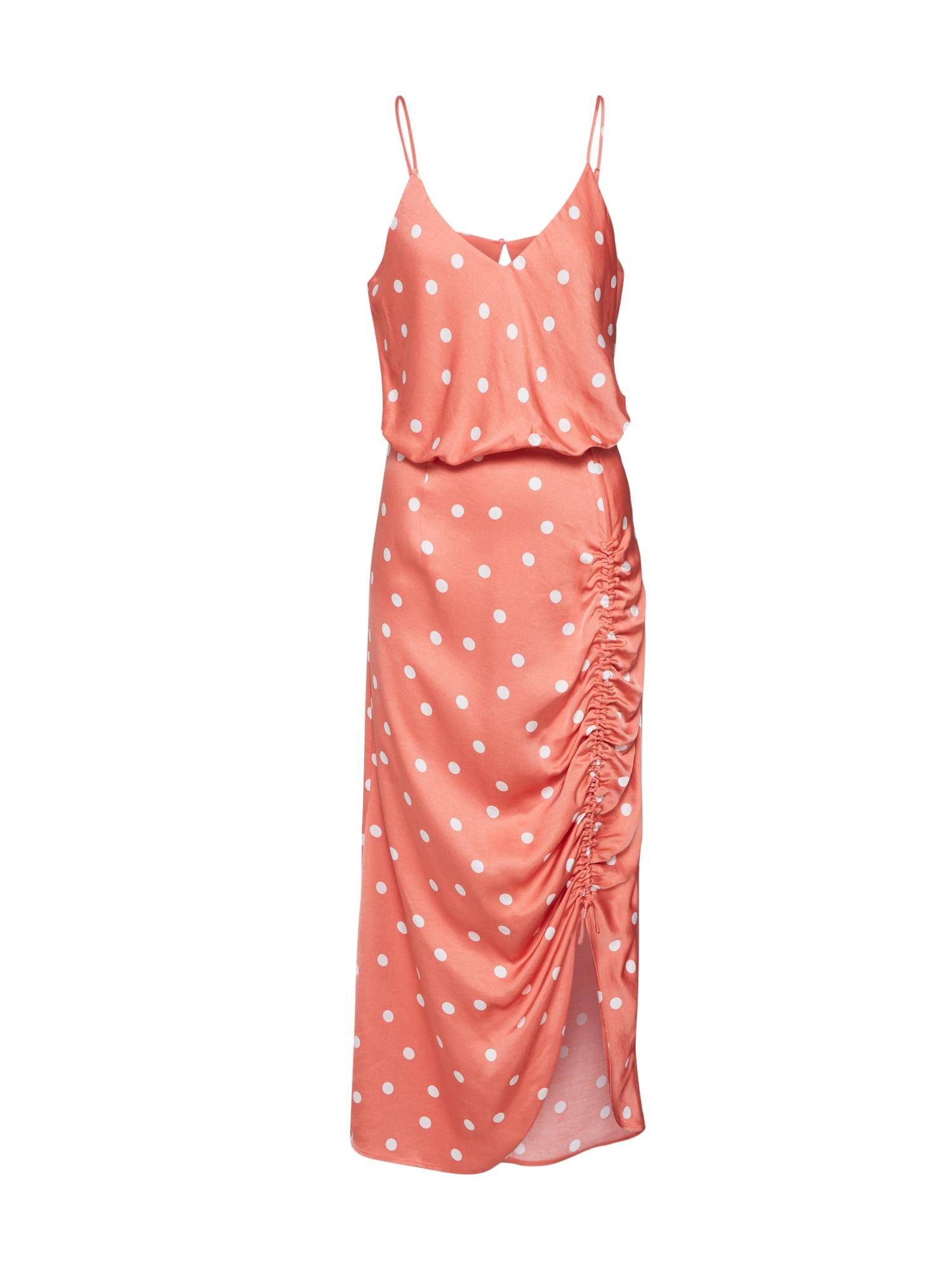 EDITED Suknelė 'Claire' balta / koralų splava