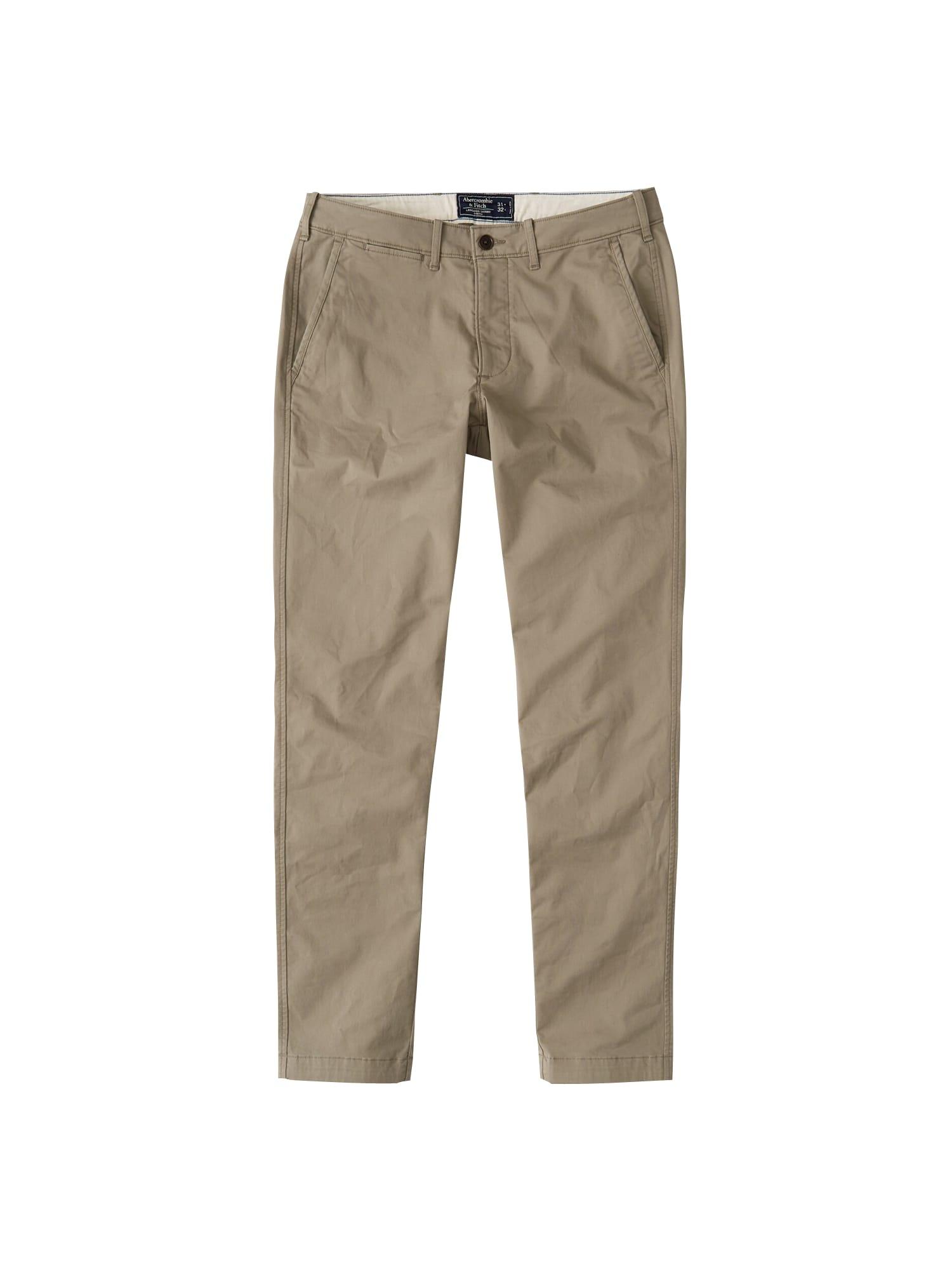 Chino kalhoty SB19-SKINNY LT BRN R14 1CC  světle hnědá Abercrombie & Fitch