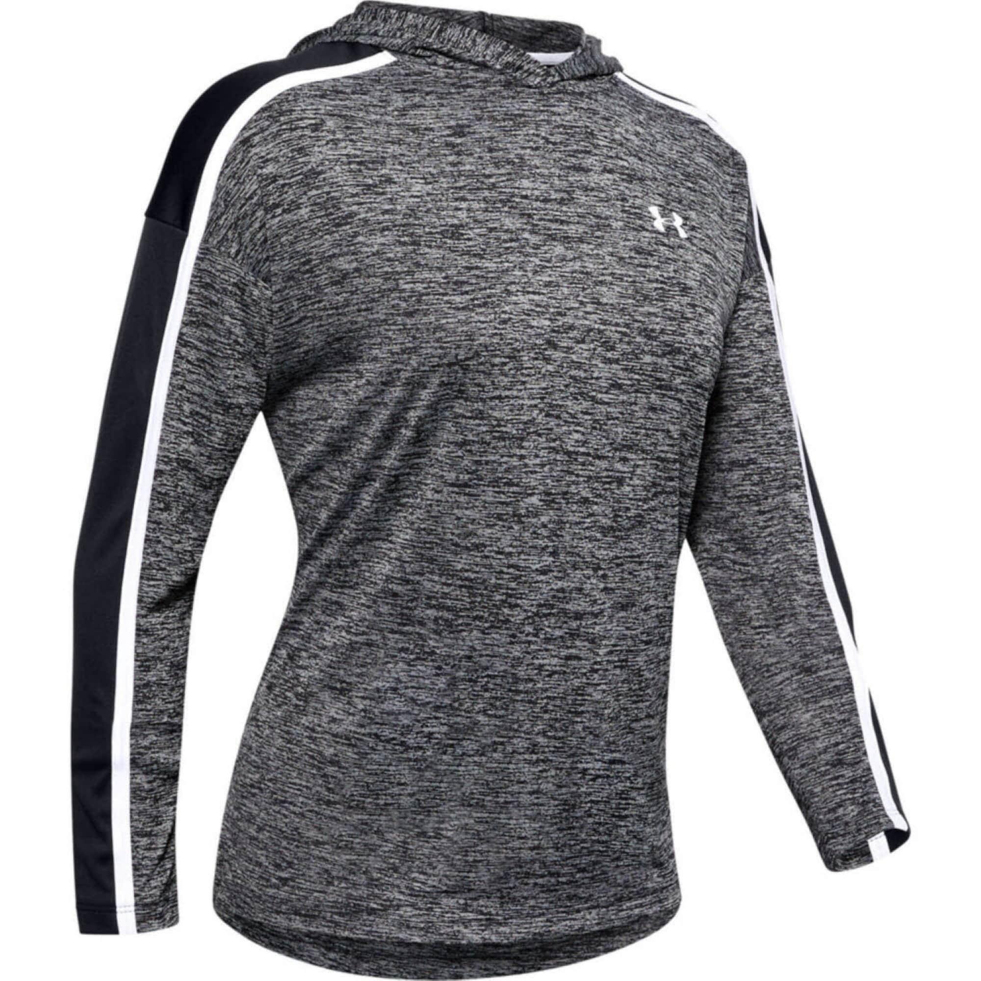 UNDER ARMOUR Sportinio tipo megztinis juoda / margai pilka / balta
