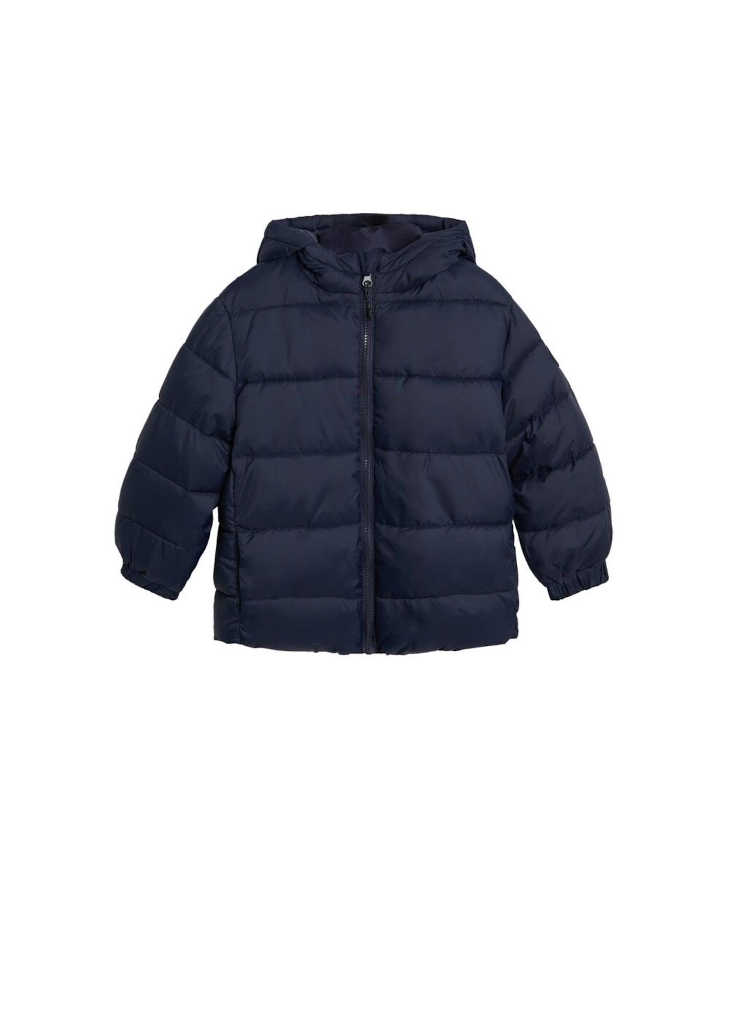 MANGO KIDS Zimná bunda  námornícka modrá