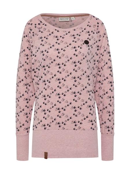 Oberteile für Frauen - Naketano Langarmshirt rosa  - Onlineshop ABOUT YOU