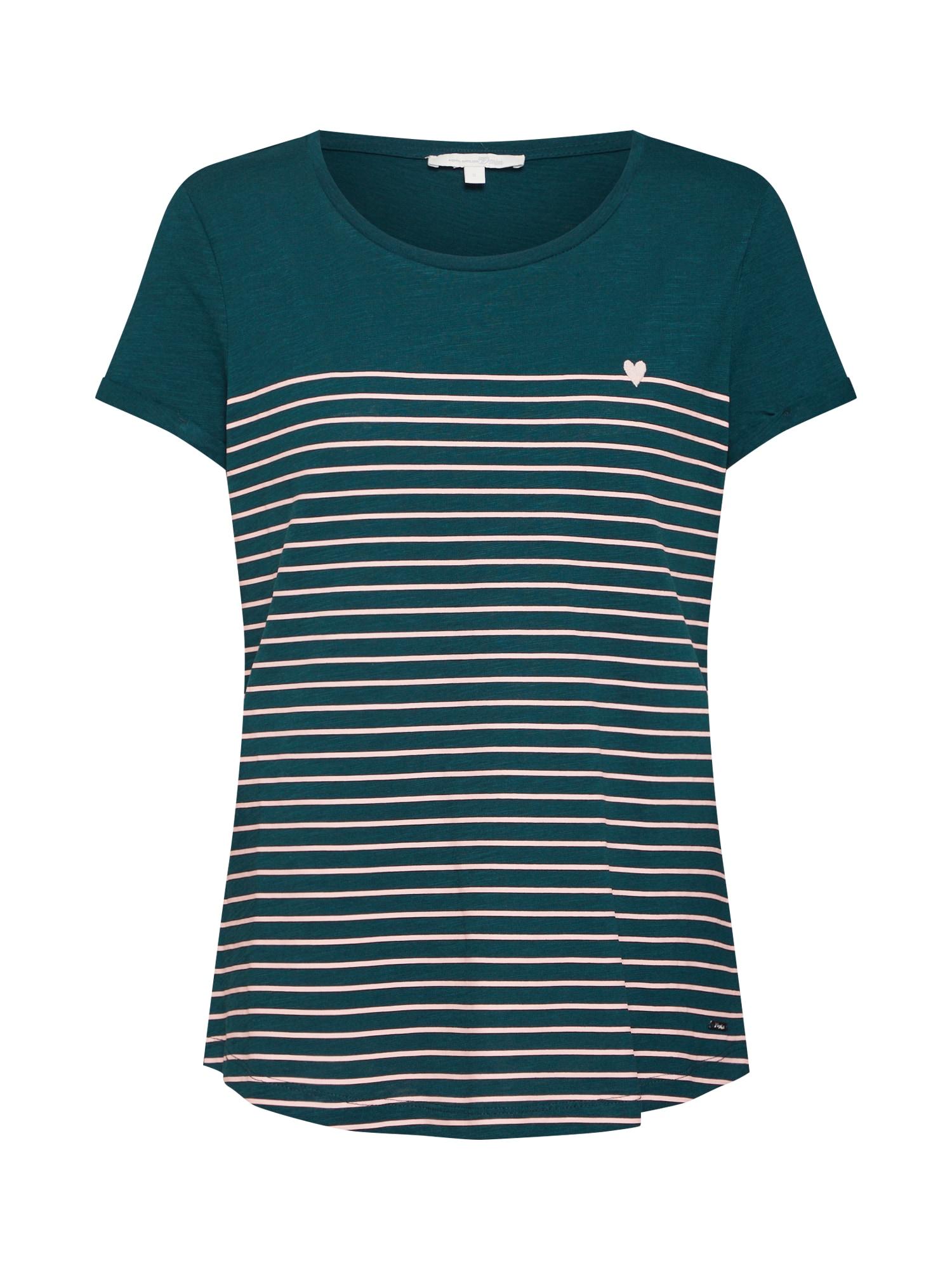 TOM TAILOR DENIM Tričko  zelená / ružová