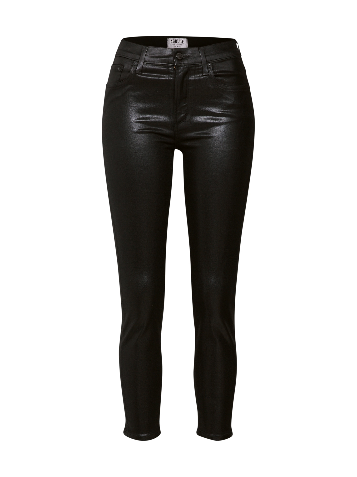 Kalhoty Sophie H Rise Skinny Crop černá AGOLDE