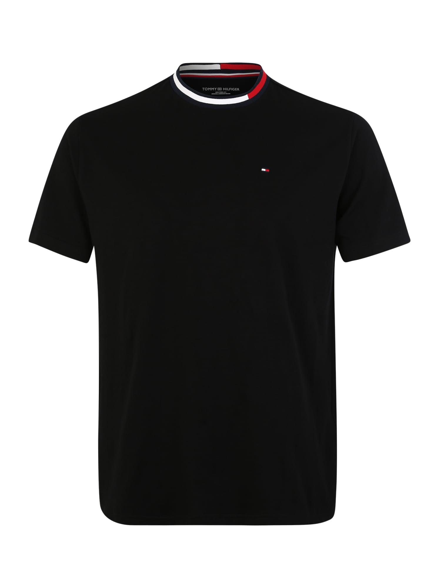 Tričko červená černá bílá TOMMY HILFIGER