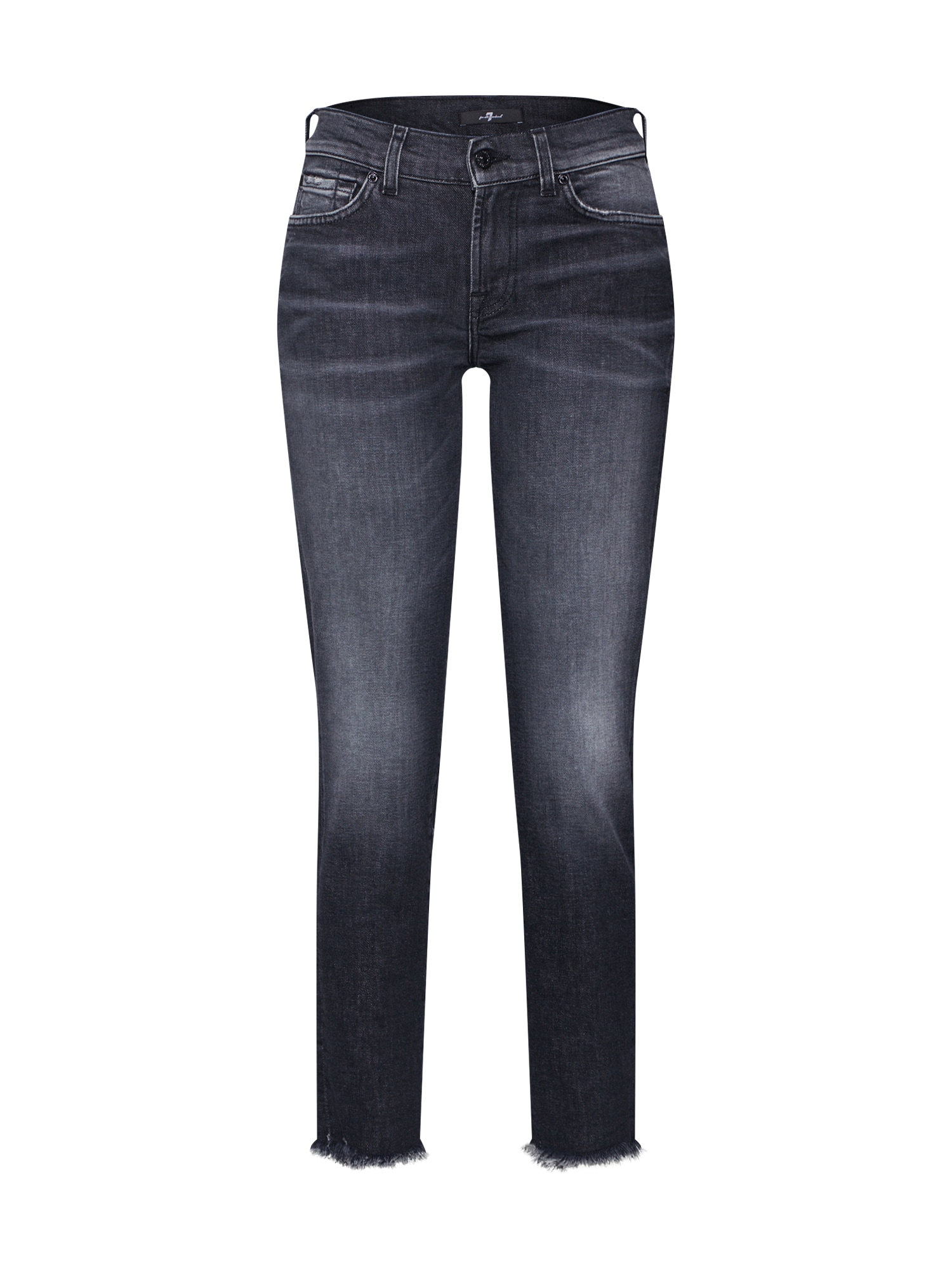 7 for all mankind Džinsai 'MID RISE ROXANNE CROP' juoda