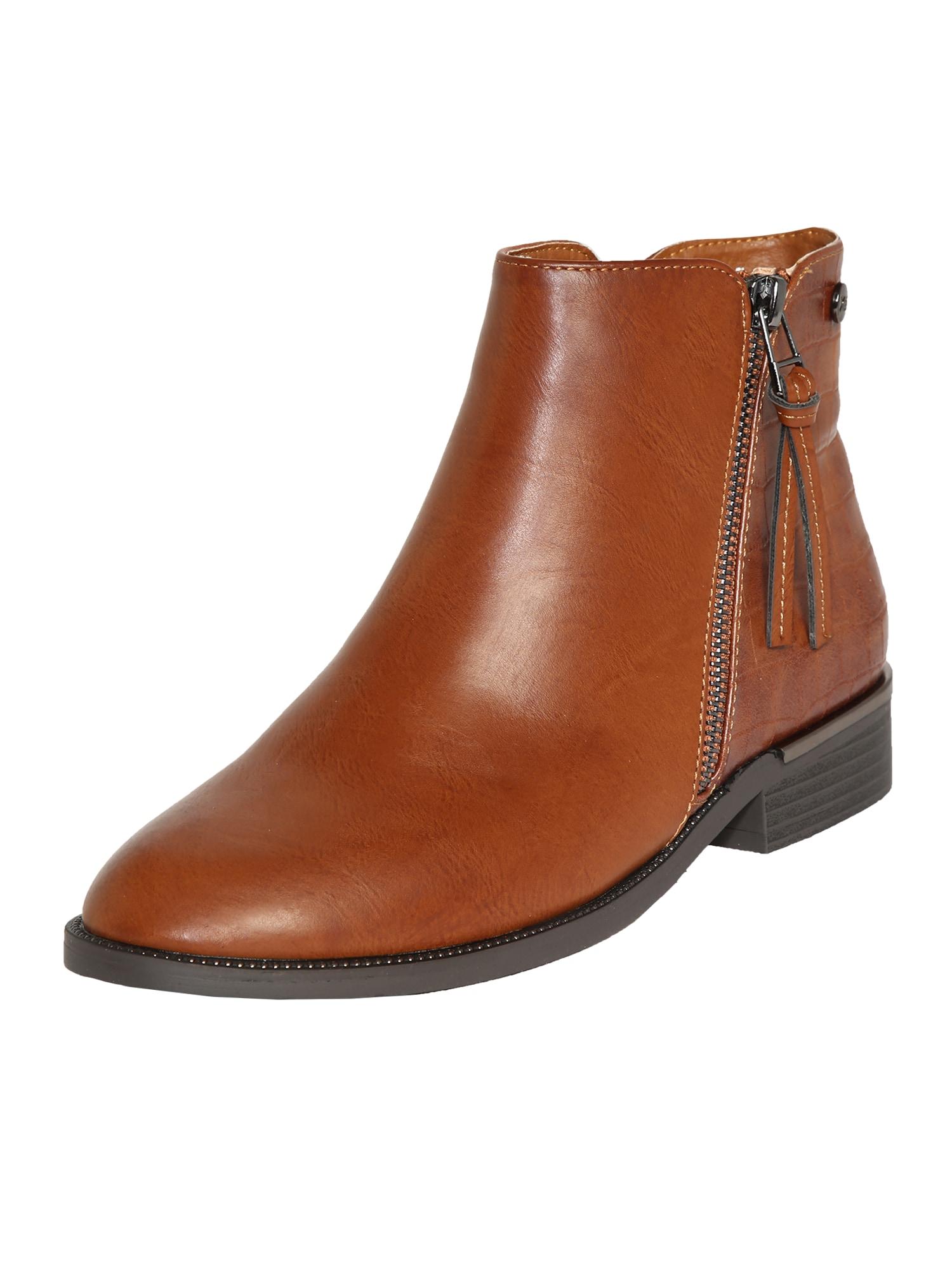 Xti Kulkšnis dengiantys batai ruda (konjako)