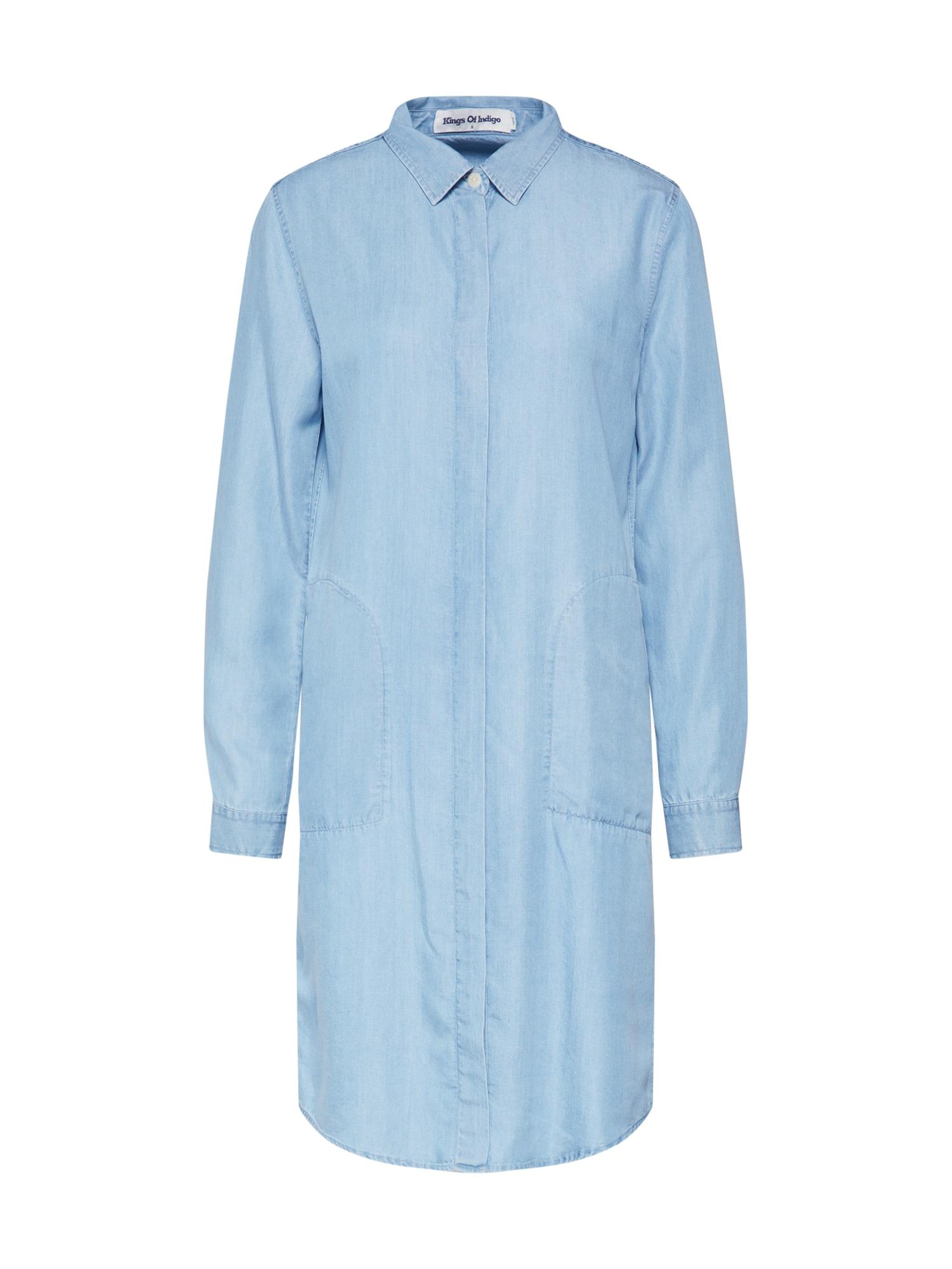 Kings Of Indigo Palaidinės tipo suknelė 'PRISCILLA' tamsiai (džinso) mėlyna