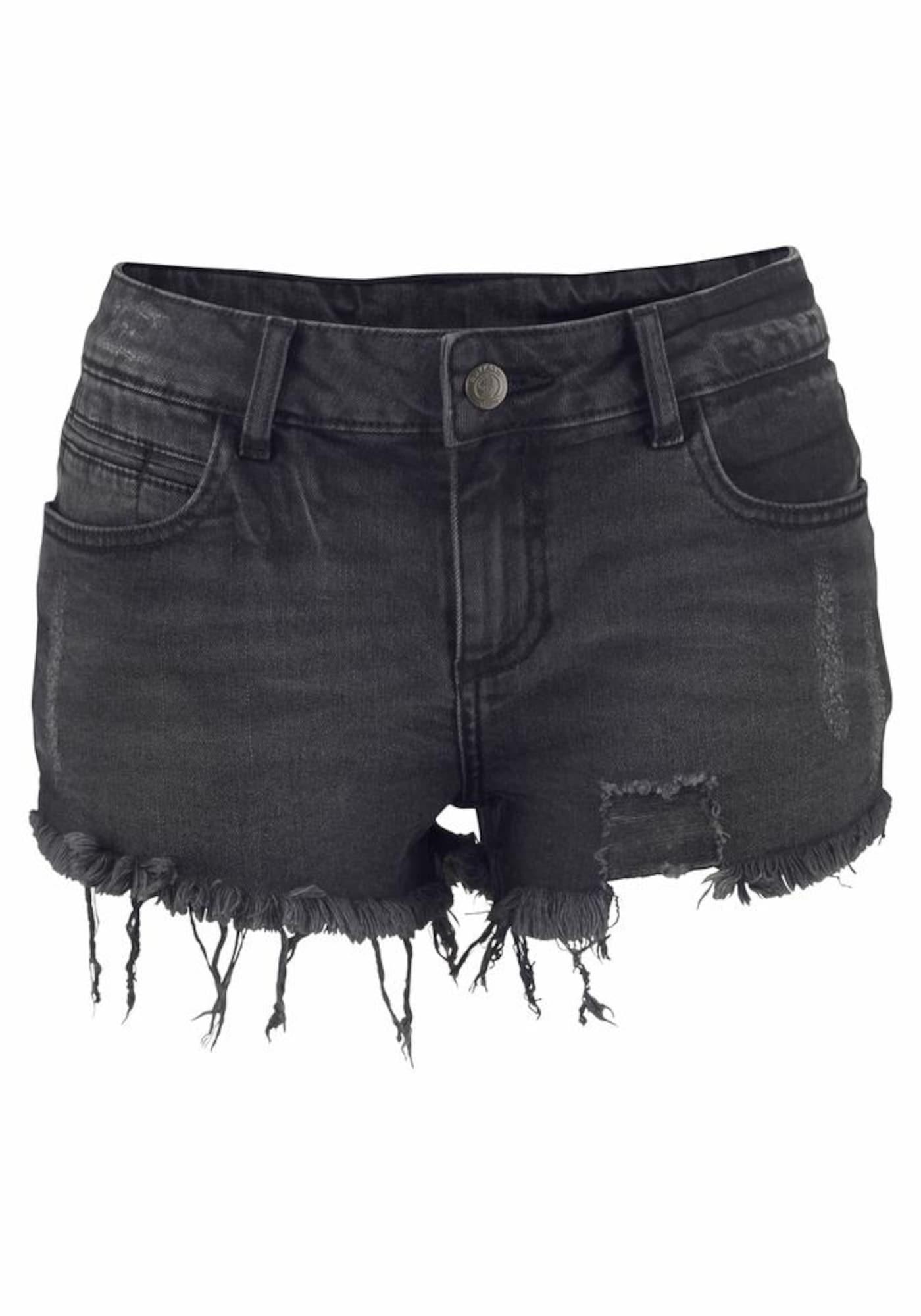 BUFFALO Džinsai juodo džinso spalva